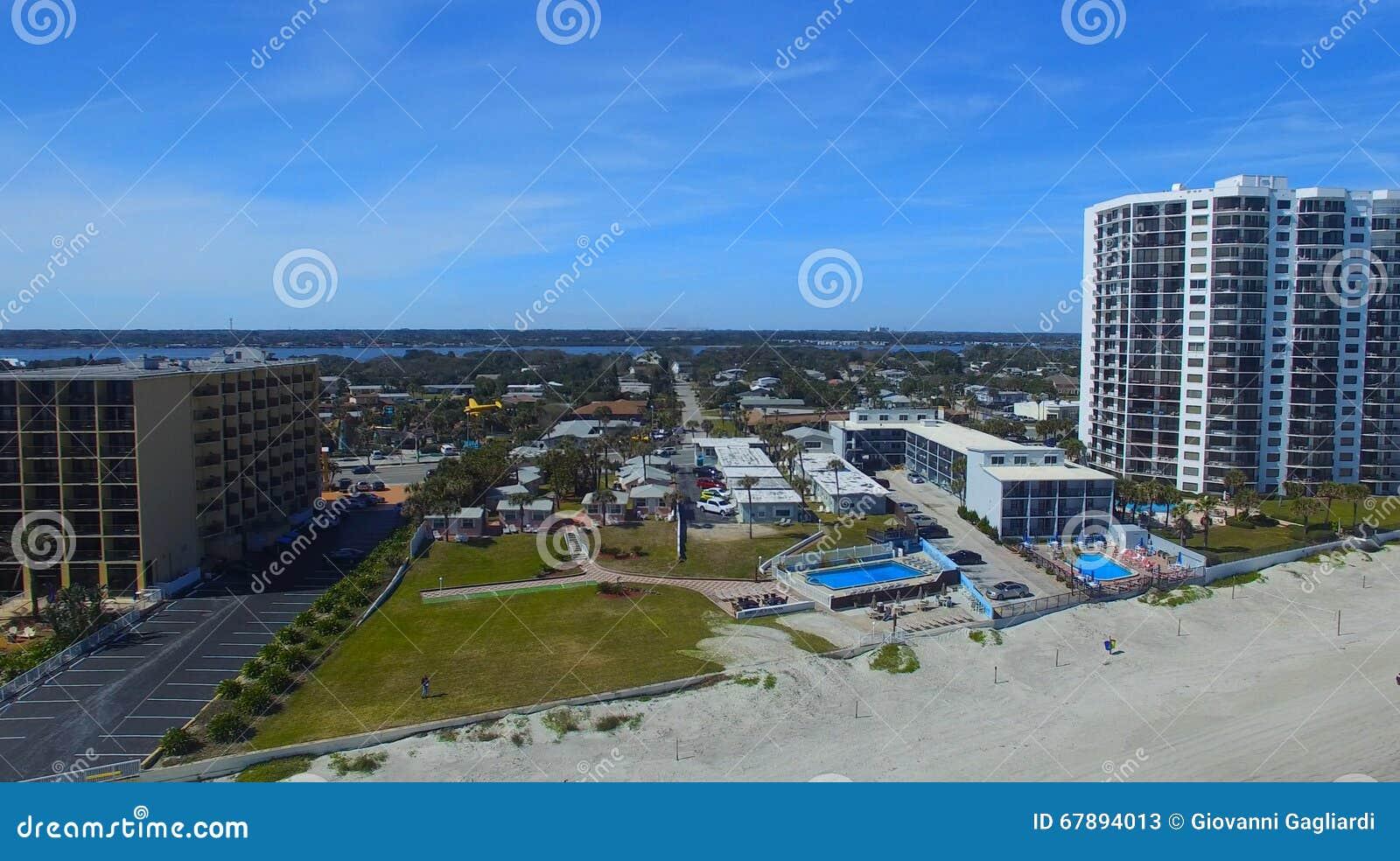 Opinião aérea de Daytona Beach, Florida