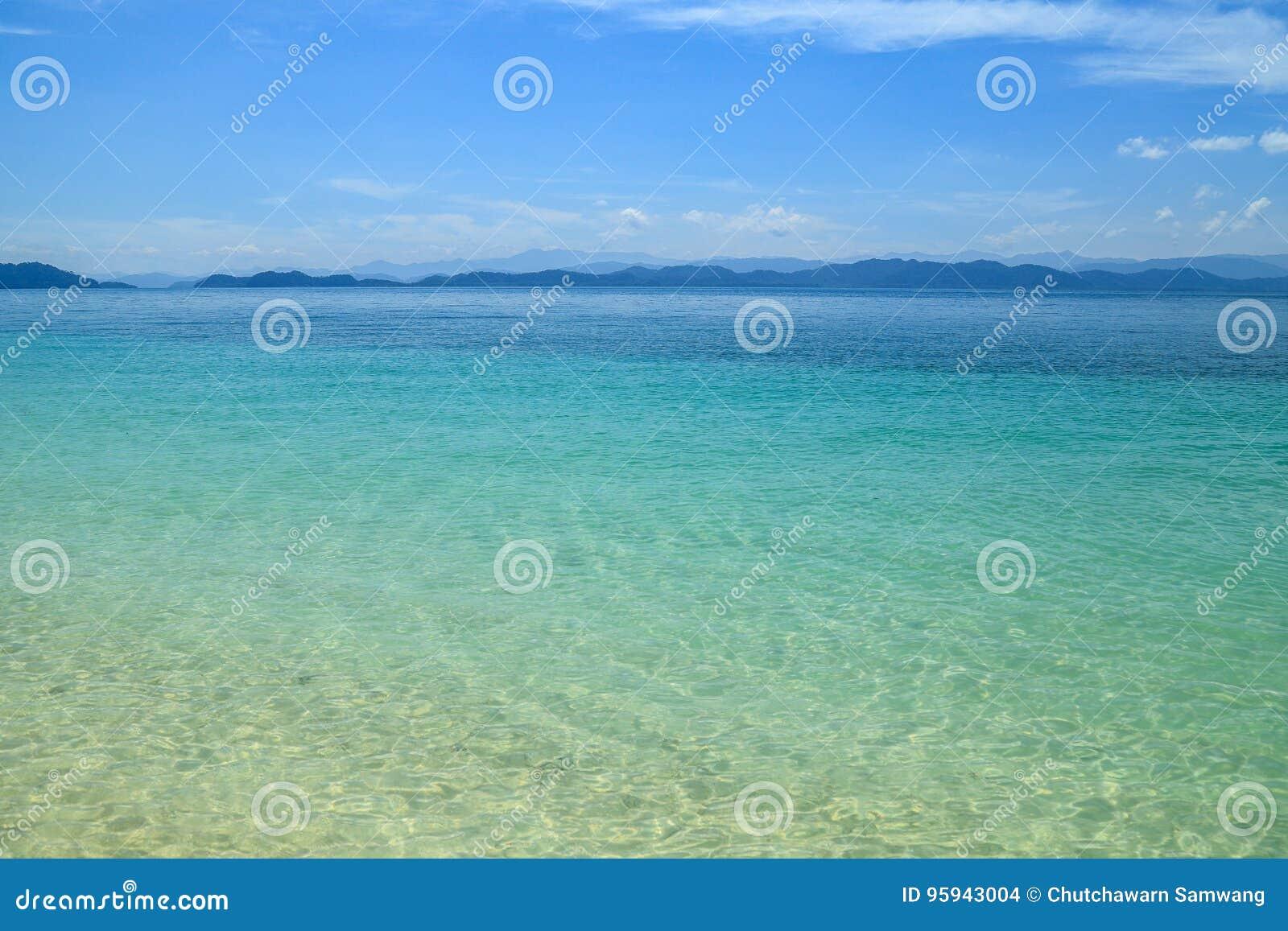 Opinião aérea de superfície do mar