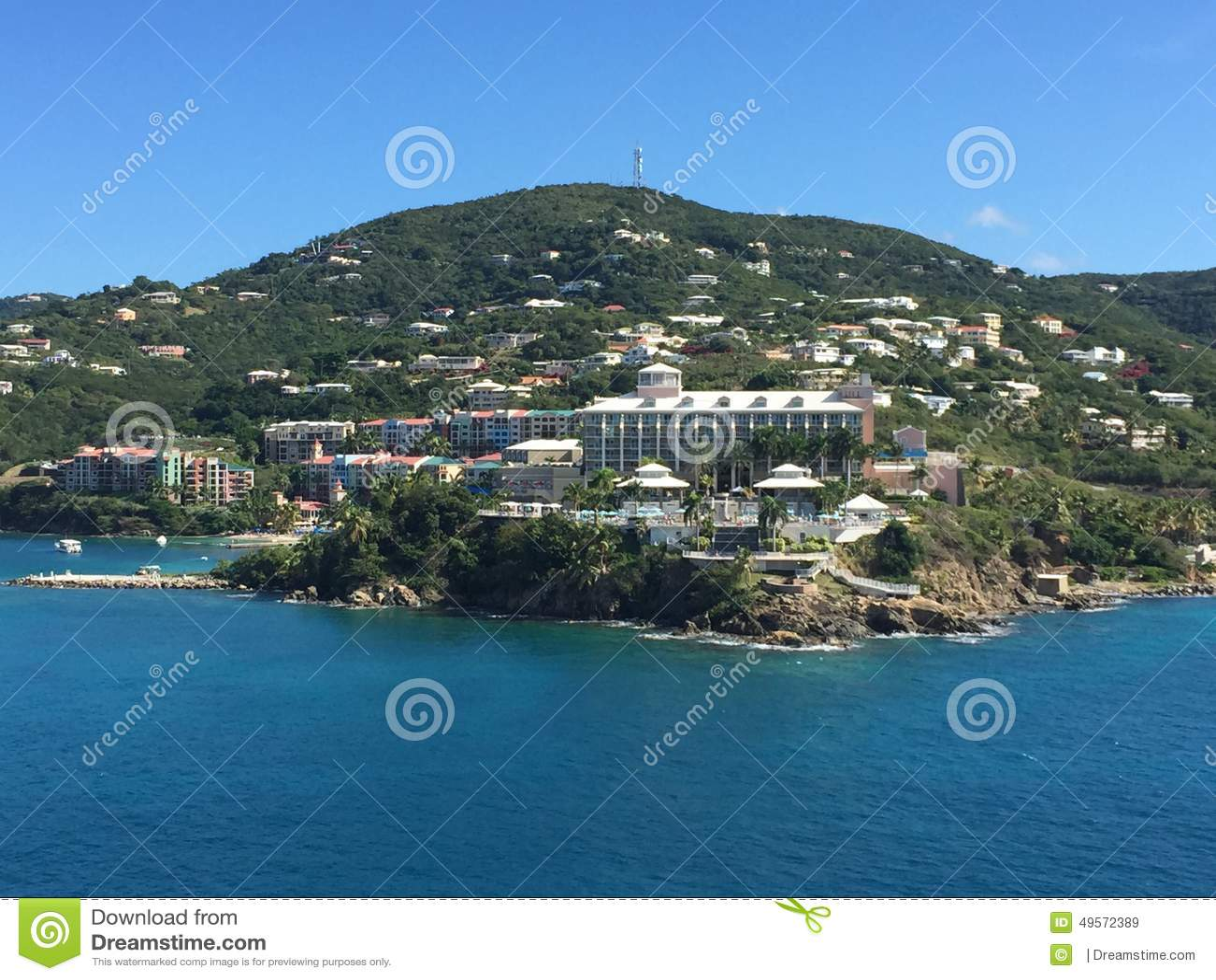 Opinião da água da ilha
