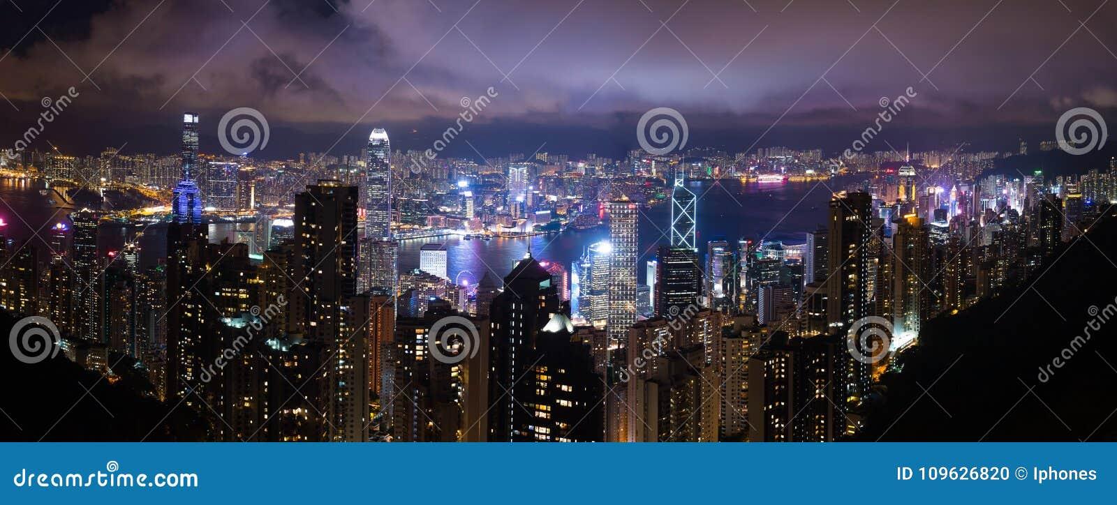 Opinião da noite de Hong Kong