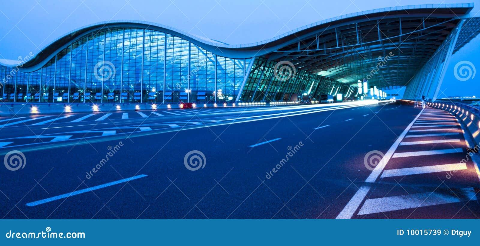 Opinião da noite do aeroporto