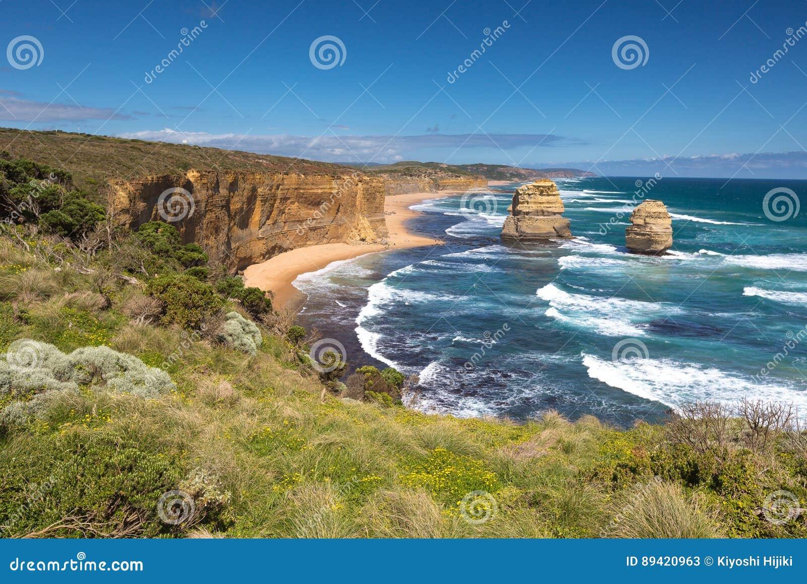 Opinião da paisagem os doze apóstolos
