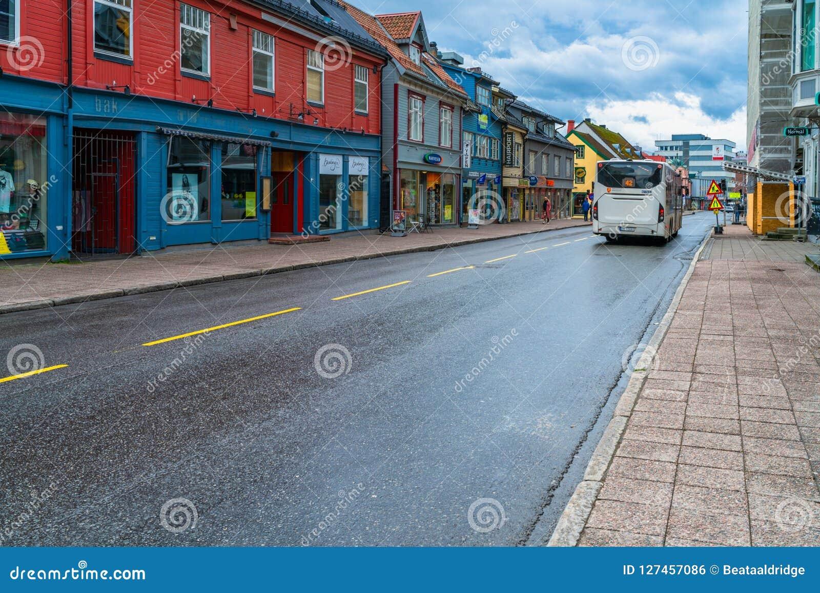 Opinião da rua de Tromso, Noruega
