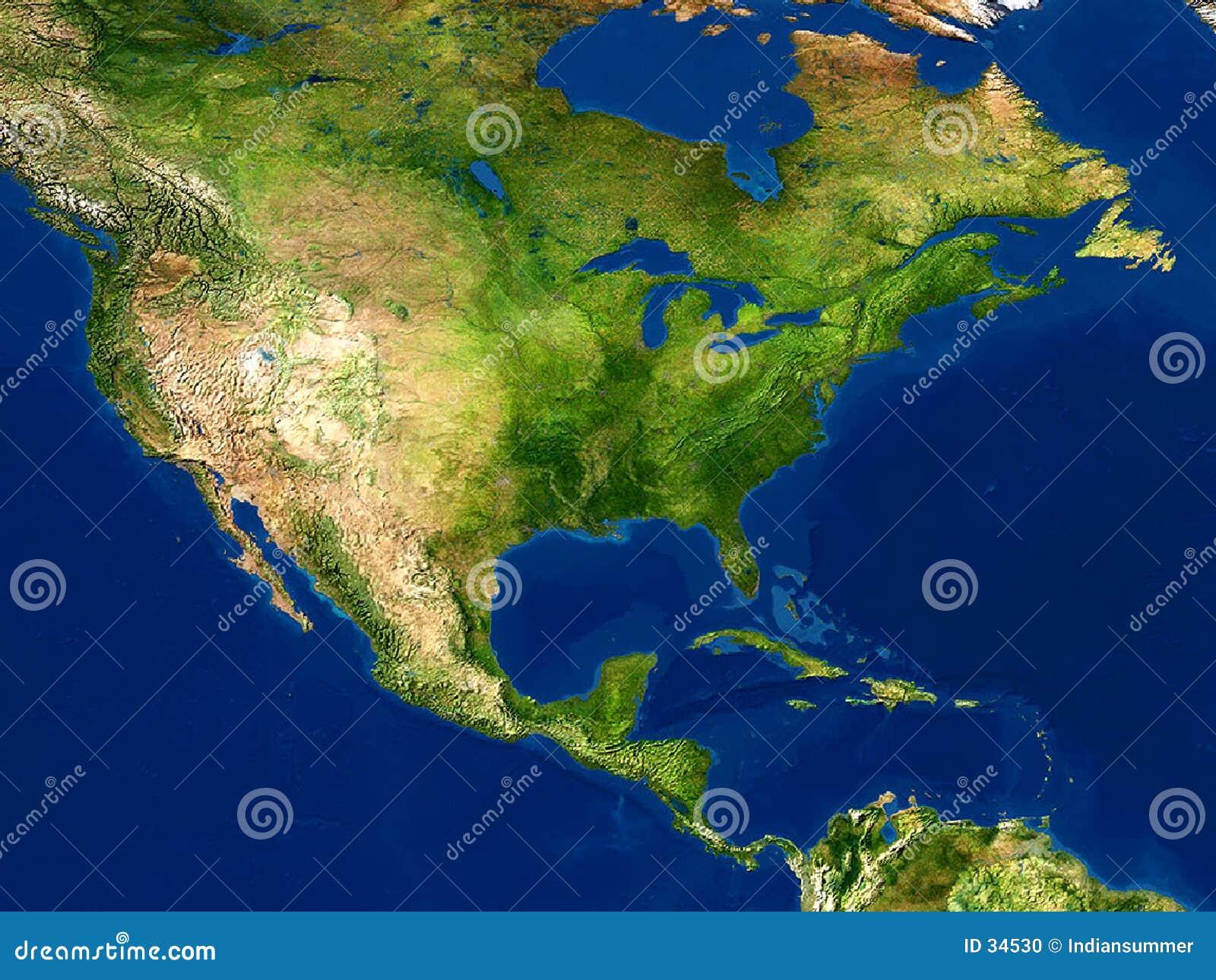 Opinião da terra - mapa, America do Norte