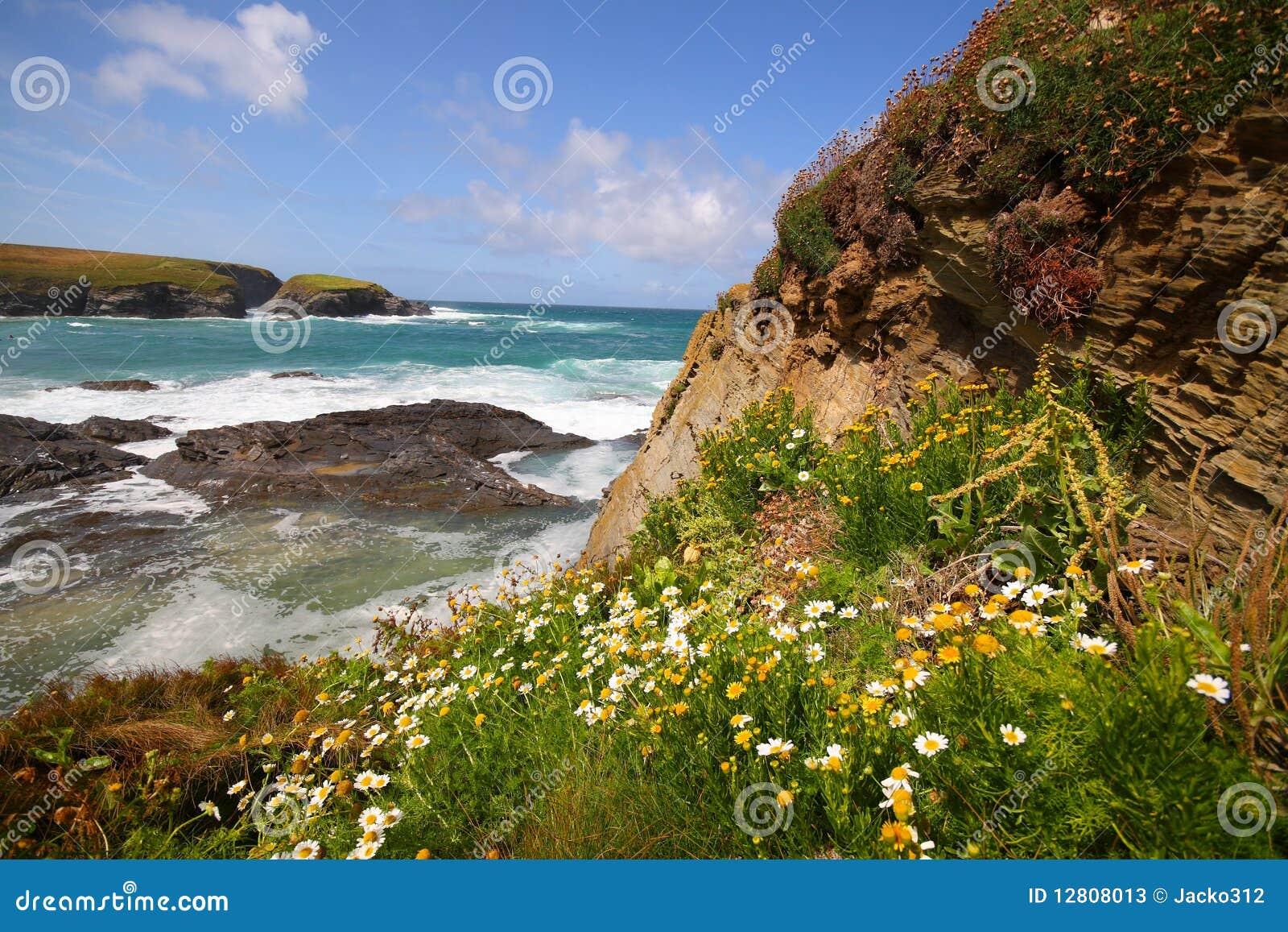 Opinião de Cliffside para fora ao mar