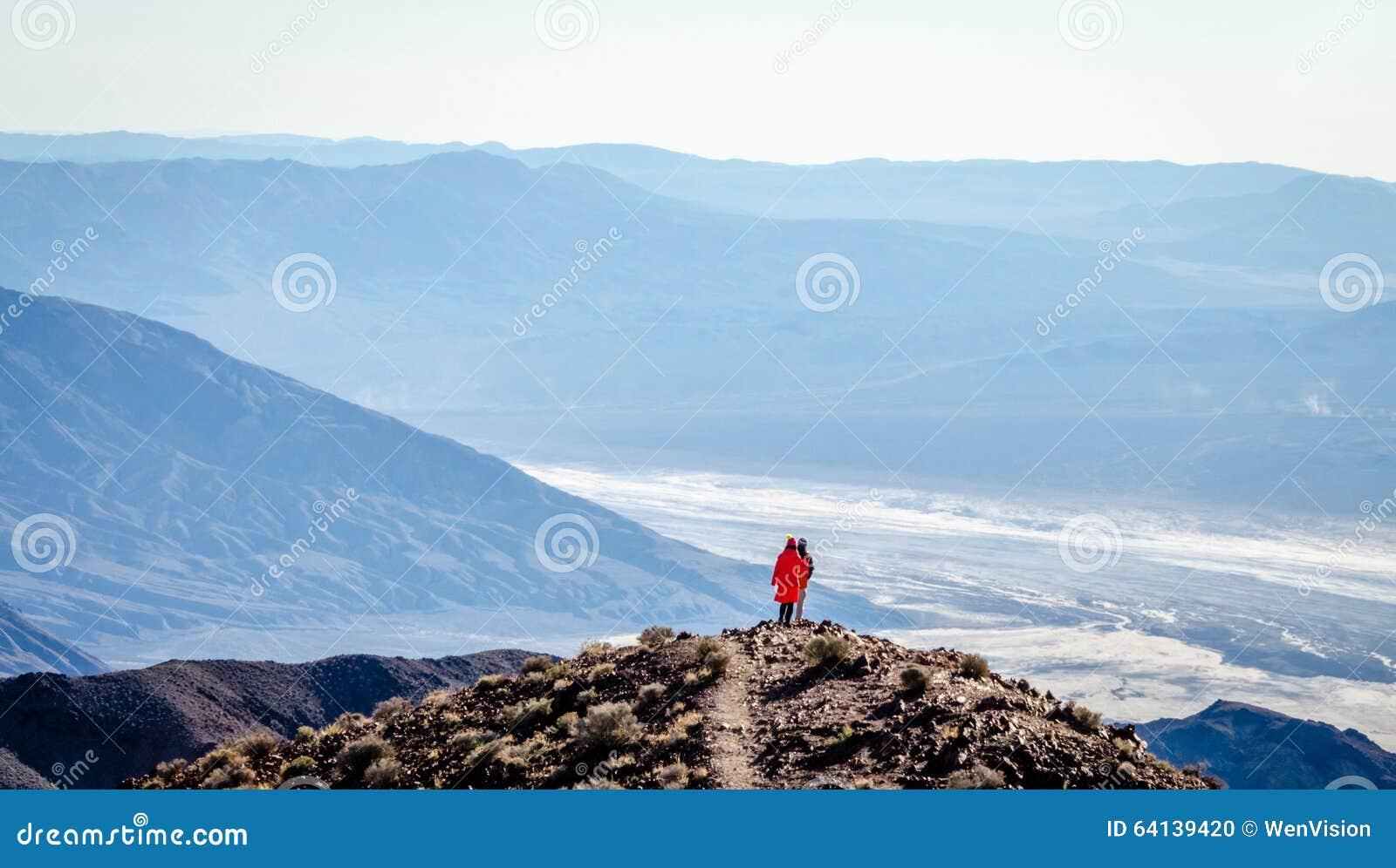 A opinião de Dante no parque nacional de Vale da Morte