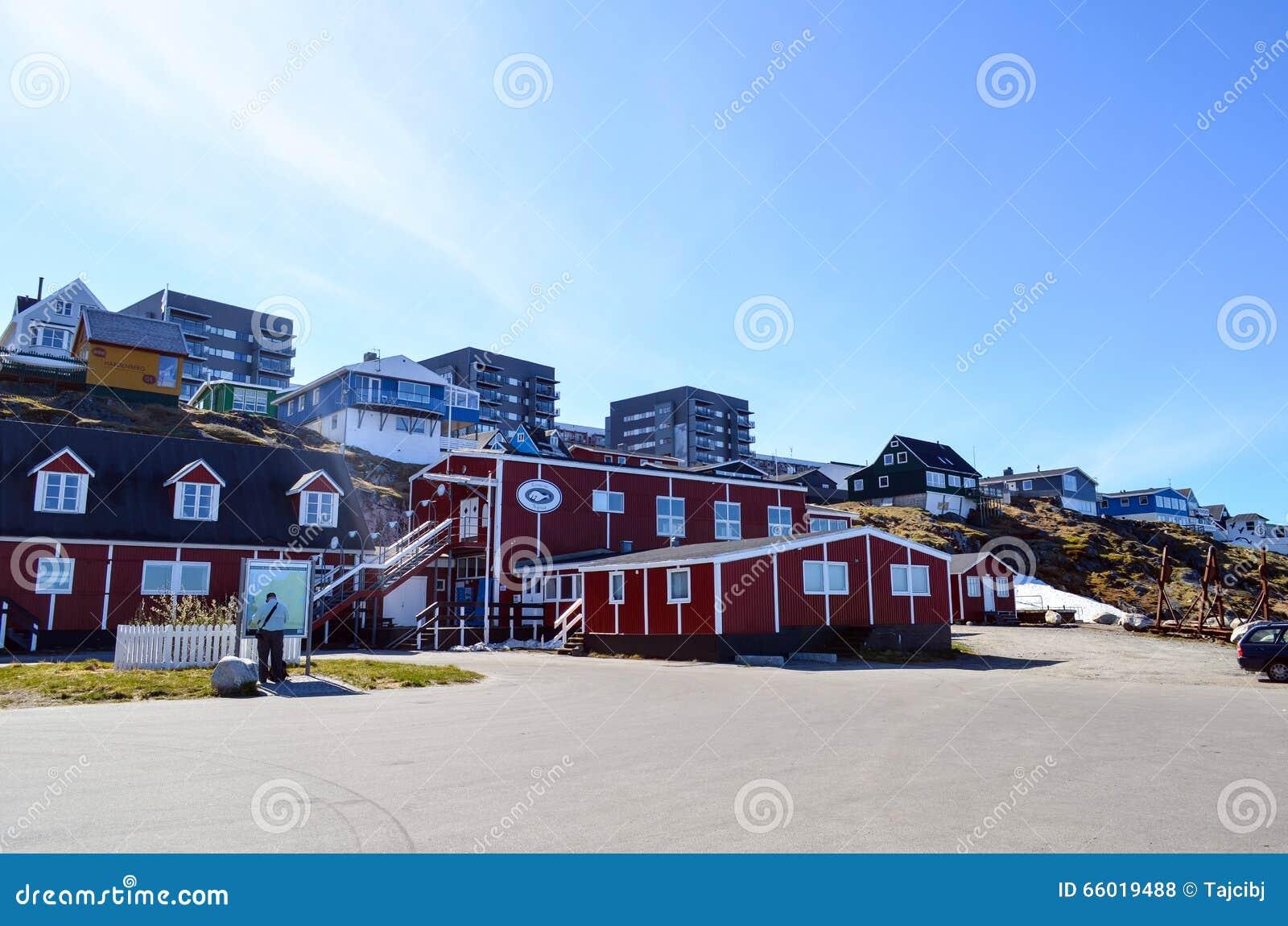 Opinião de Nuuk, capital do turista de Gronelândia