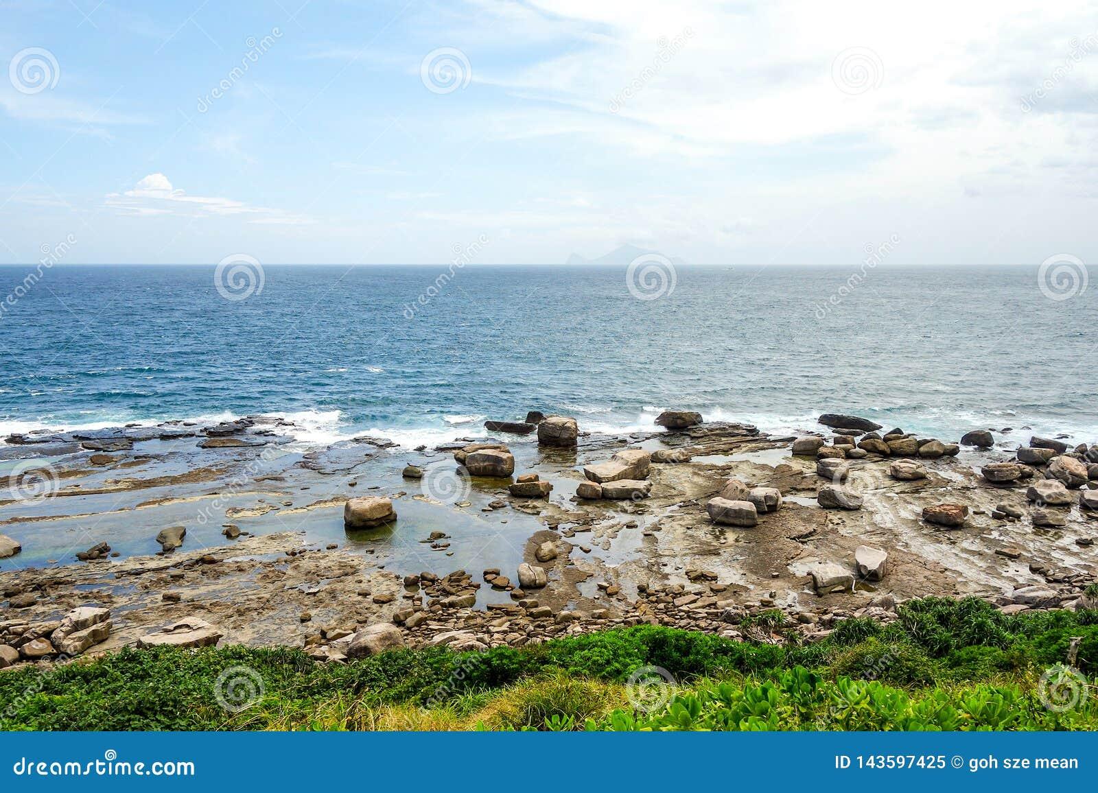 Opinião do beira-mar da natureza de Taiwan