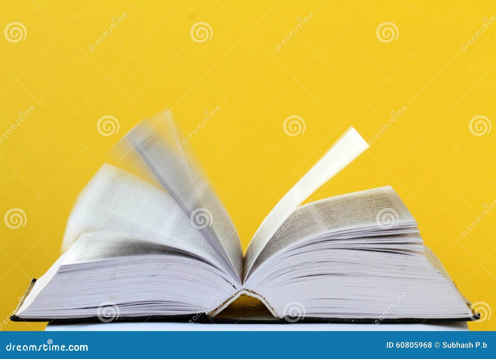 Opinião do close up de um livro aberto
