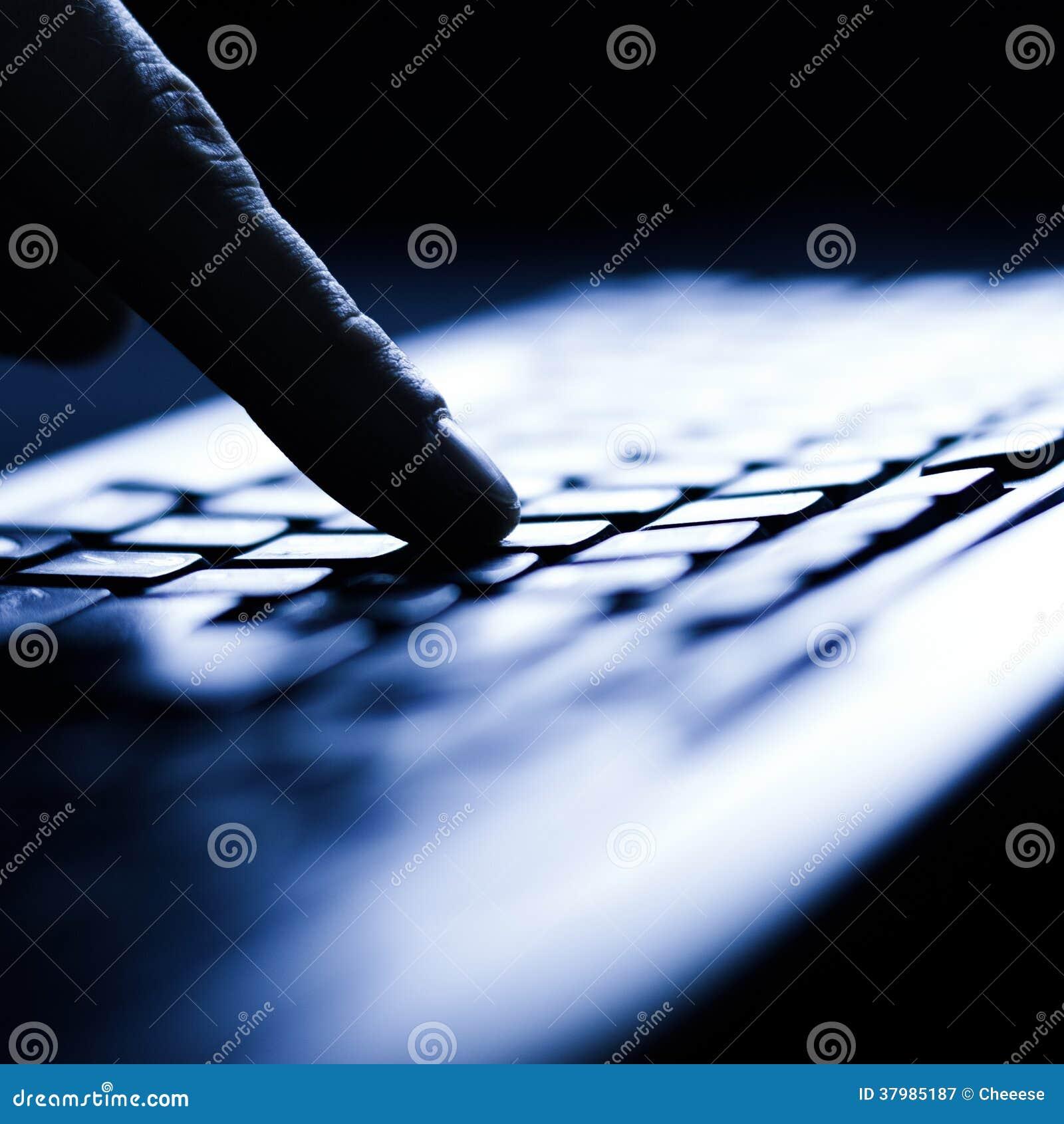 Opinião do close up do teclado