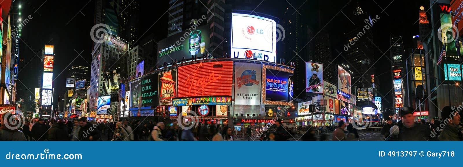 A opinião do panorama do Times Square