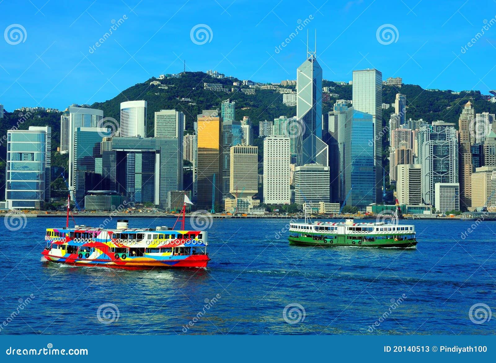 Opinião do porto de Hong Kong