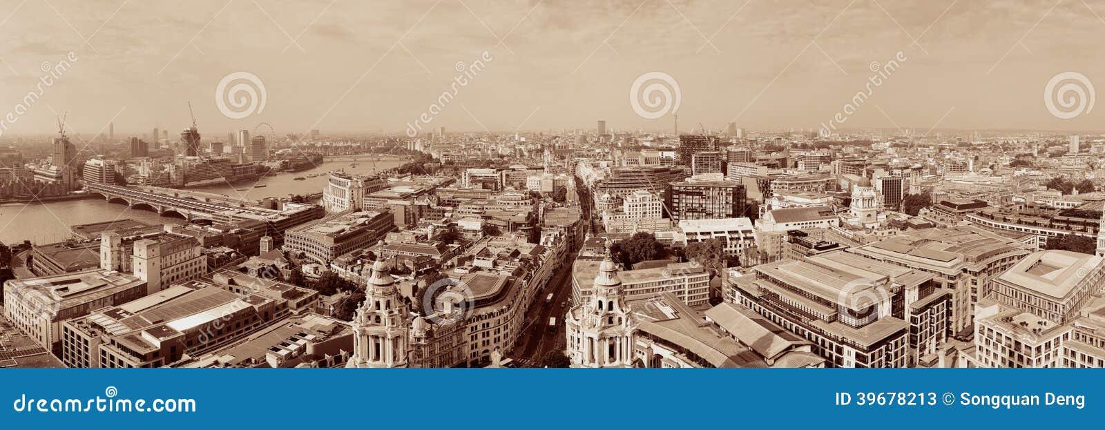 Opinião do telhado de Londres