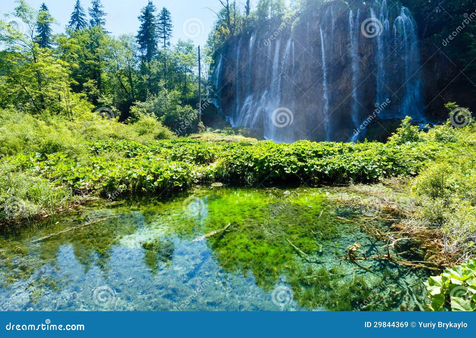 Parque nacional dos lagos Plitvice (Croatia)