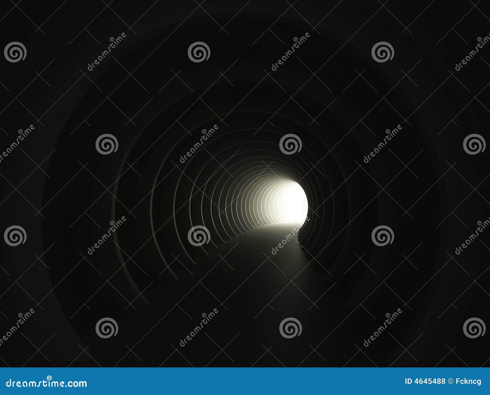 Opinião escura do túnel