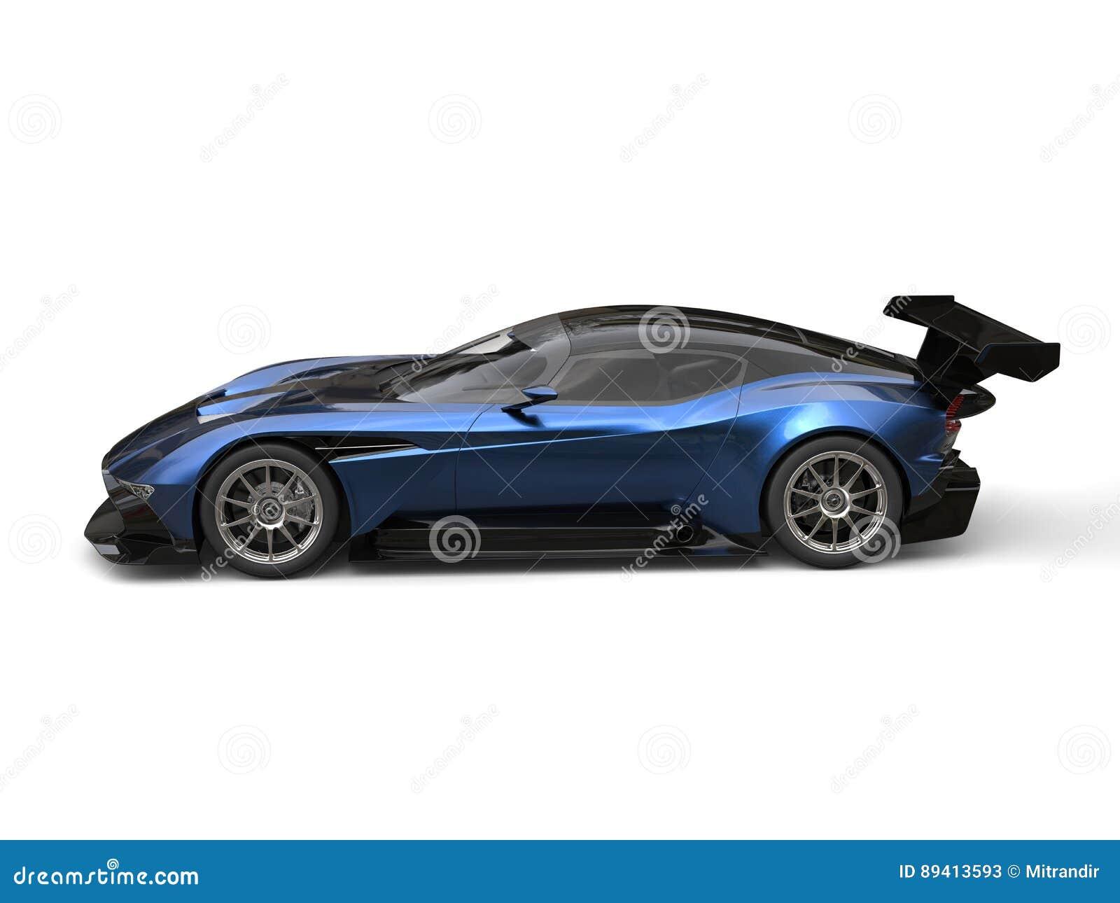 Opinião lateral automobilístico super impressionante metálica dos azuis marinhos