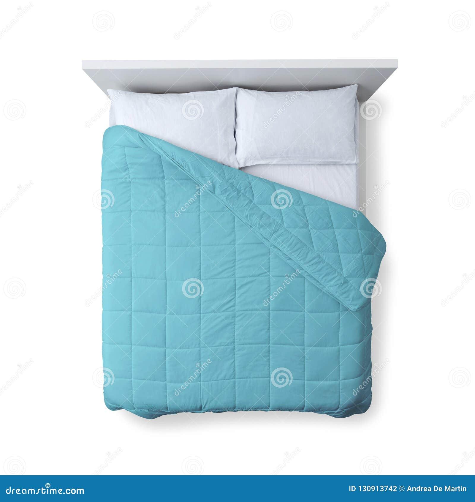 Opinião superior da cama elegante