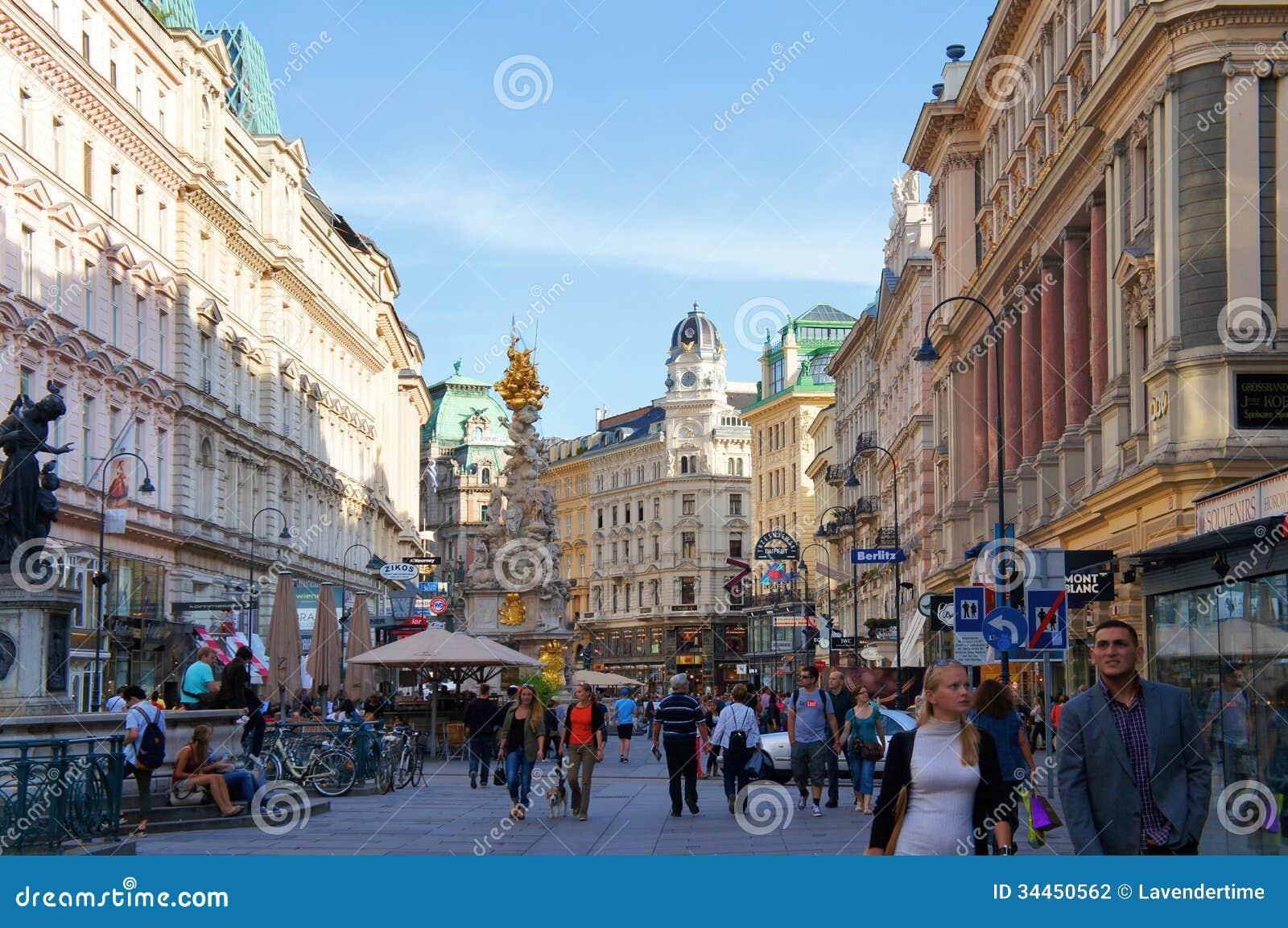 Opinião Viena da rua de Graben, Áustria