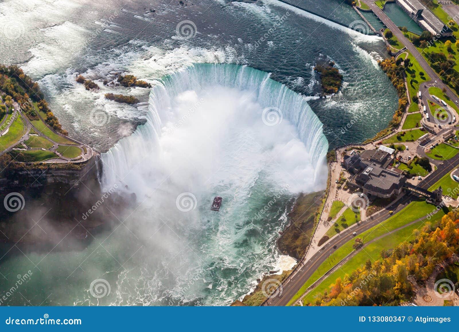 Opinión aérea de Niagara Falls