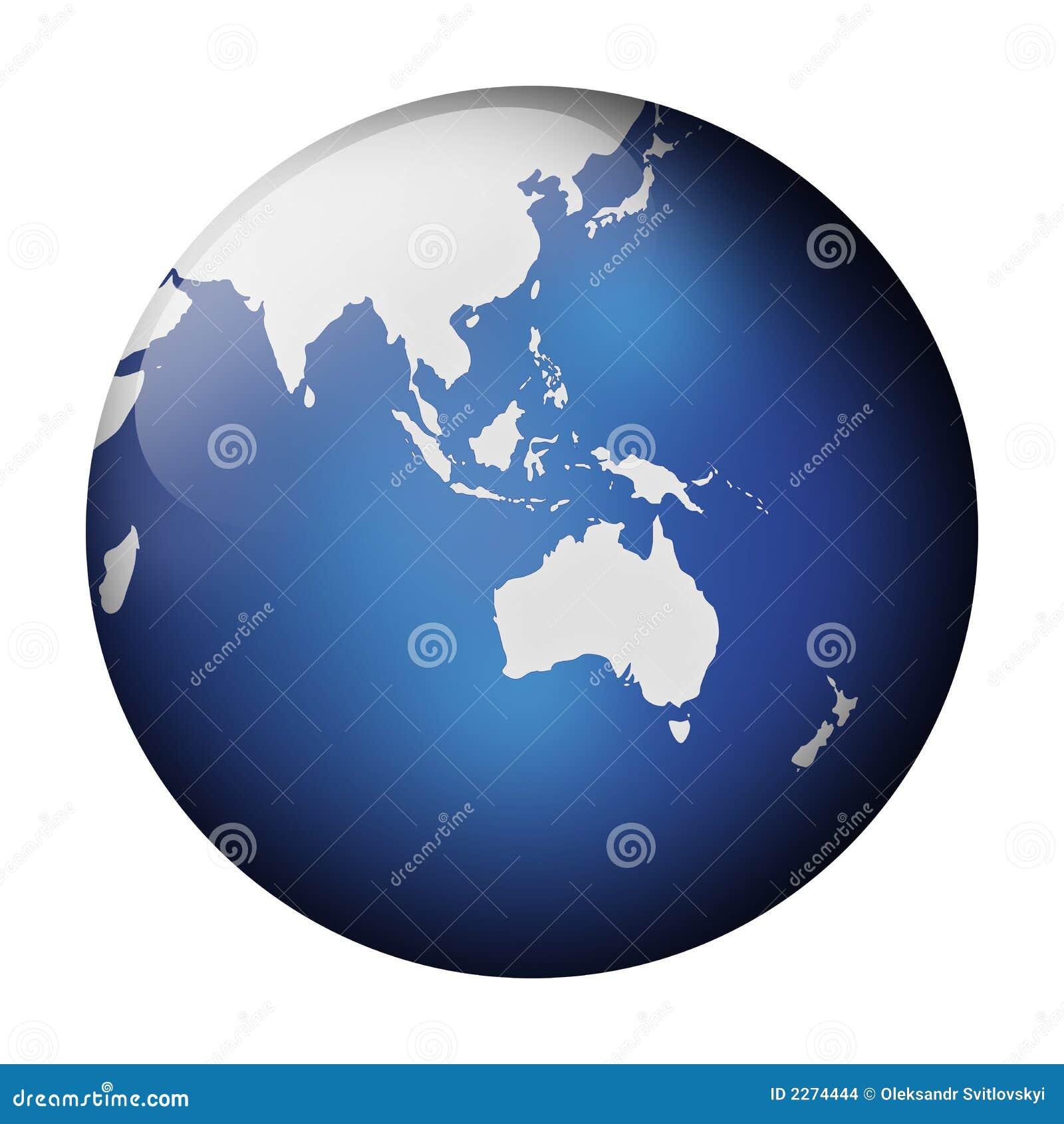 Opinión azul del globo