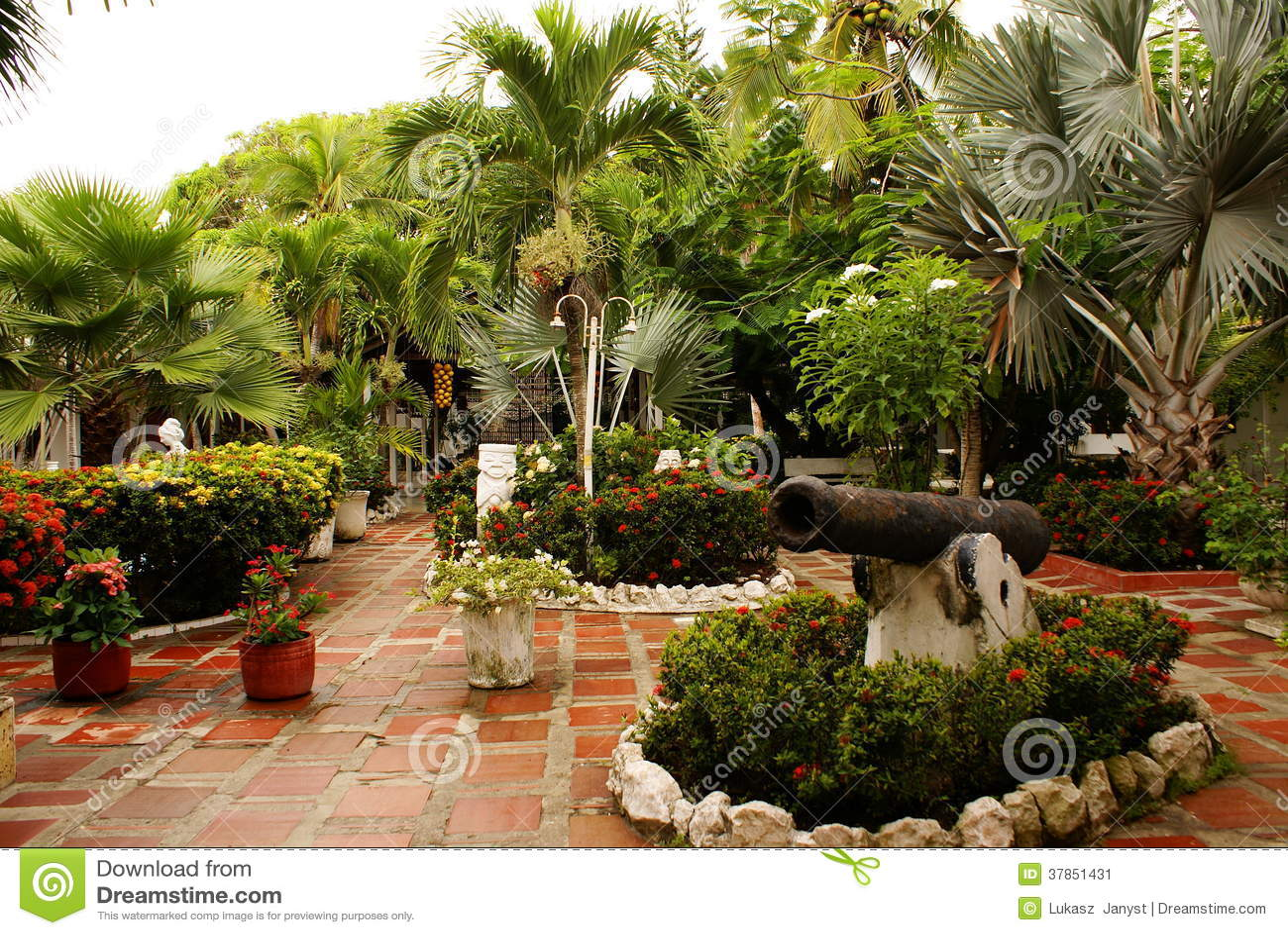 Opini n con los rboles patio del jard n en el centro for El jardin de verano