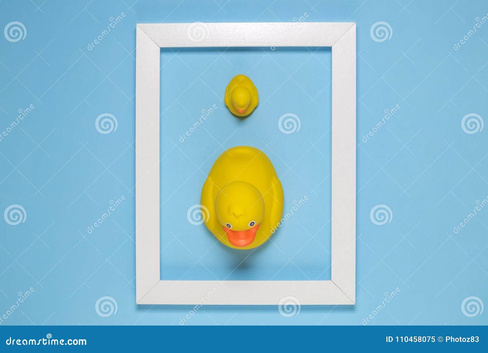 Opinión De Alto ángulo Los Patos De Goma Amarillos Grandes Y ...