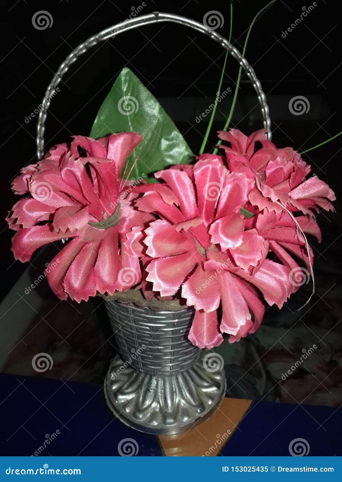 Opinión de color del rosa de la flor