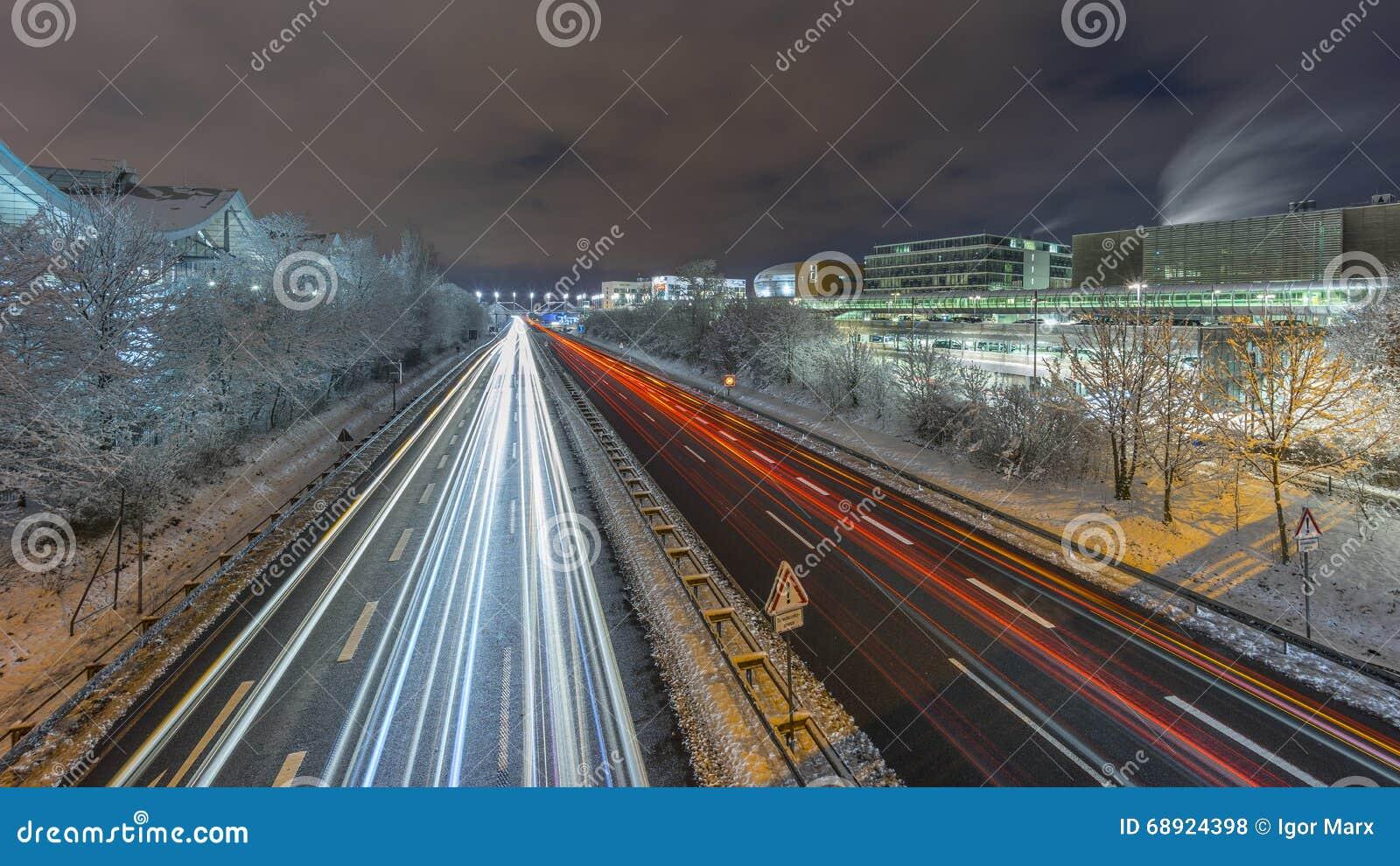 Opinión de la calle de Hannover en la tarde del invierno