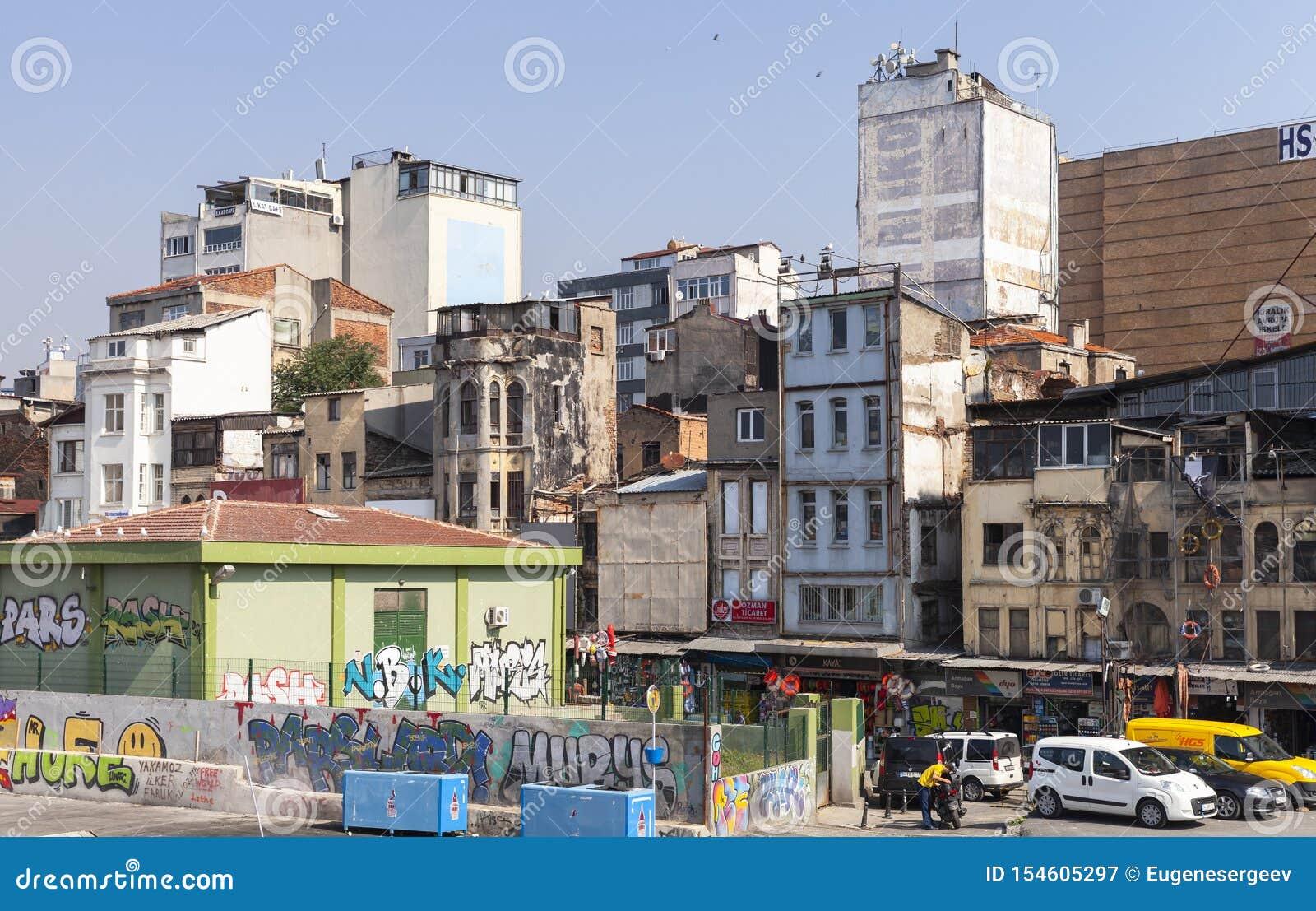 Opinión de la calle de Karakoy, Estambul, Turquía