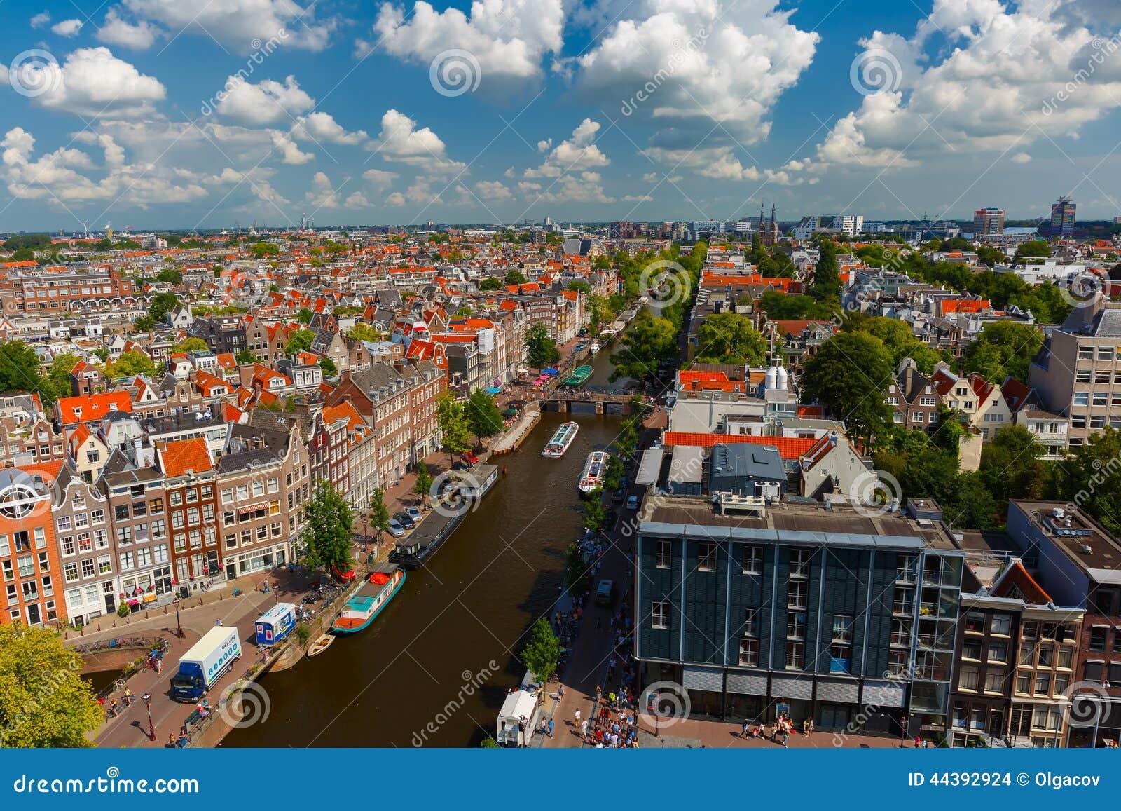 Opinión de la ciudad de Amsterdam de Westerkerk, Holanda, Países Bajos