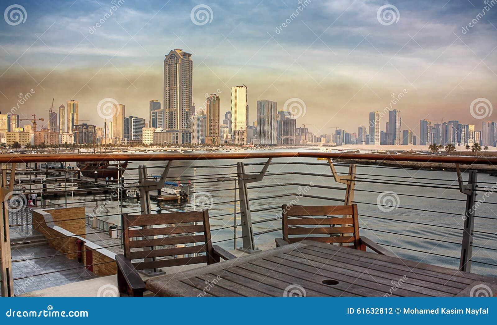 Opinión de la ciudad de Sharja de Corniche