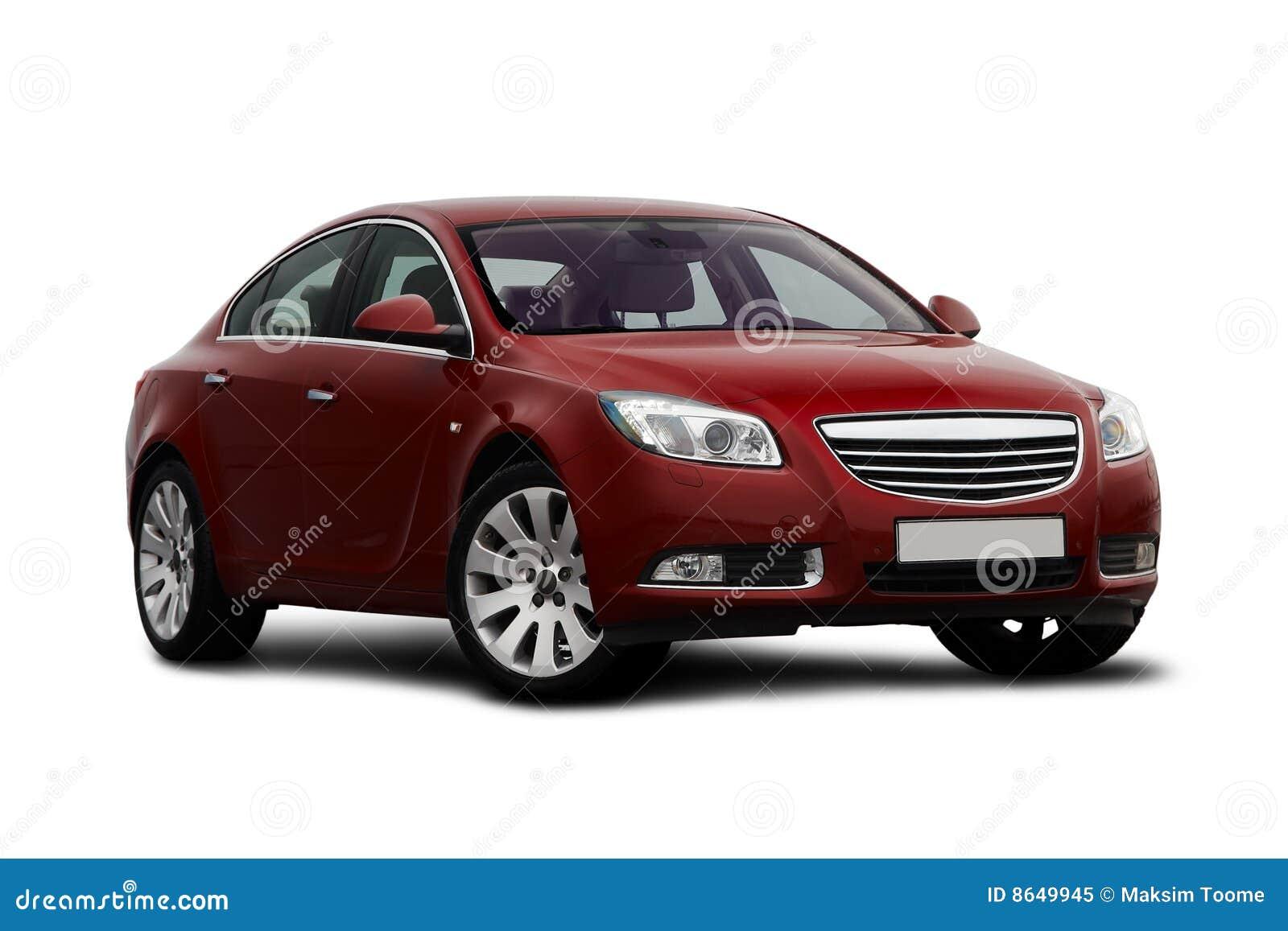 Opinión de la Delantero-cara del coche del rojo de cereza