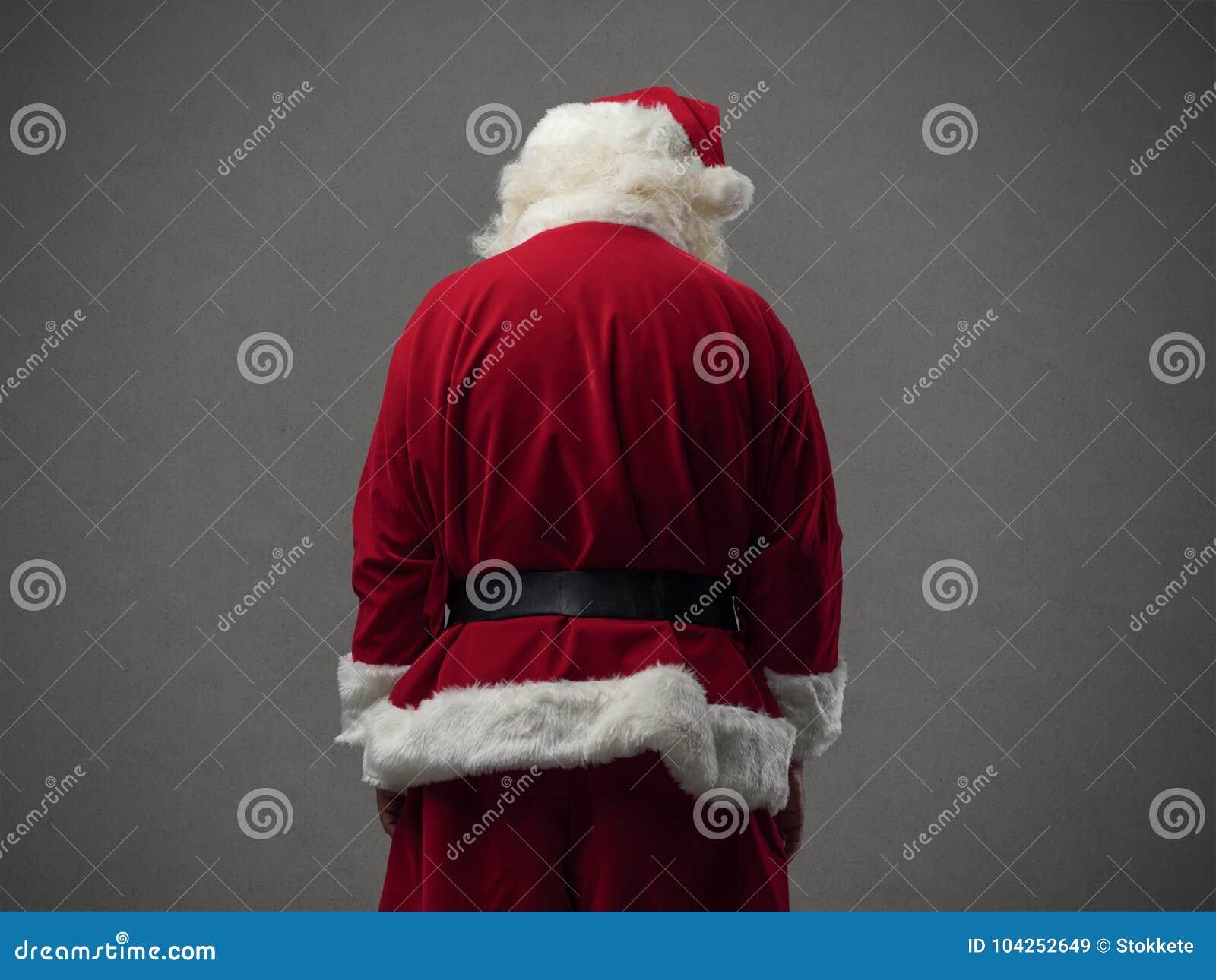 Opinión de la parte posterior de Santa Claus