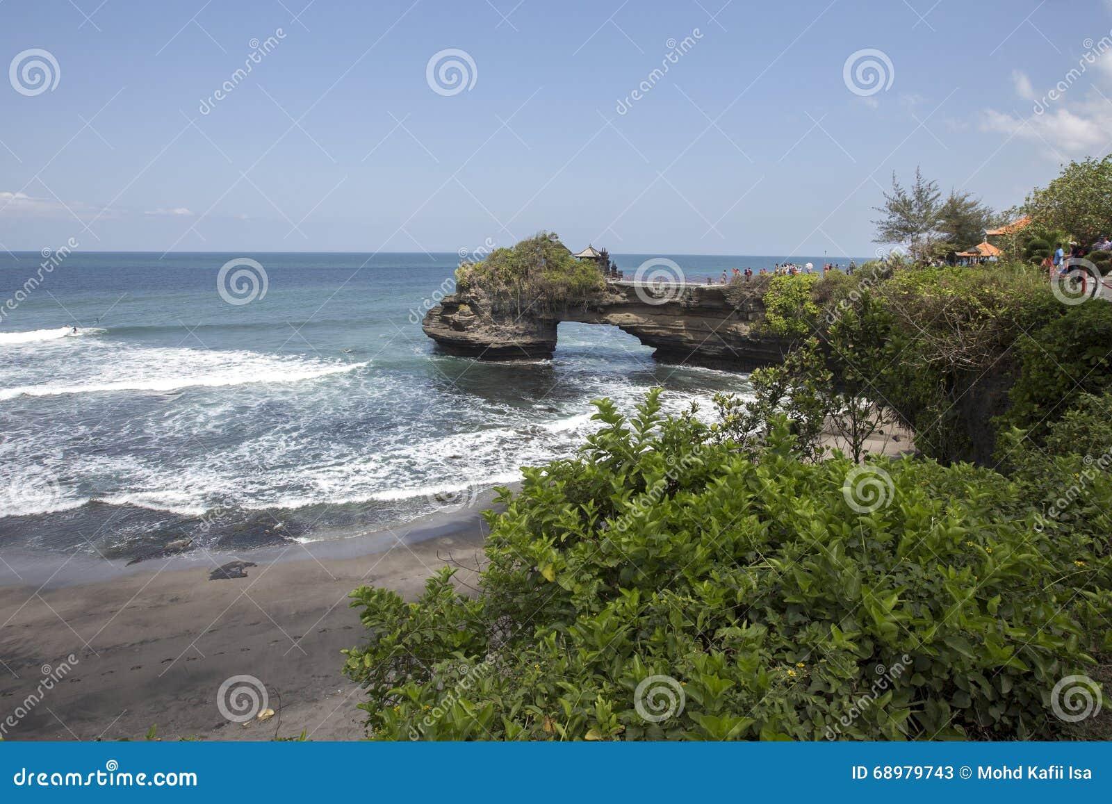 Opinión de Snenic de la playa de la porción de Tanah en Bali