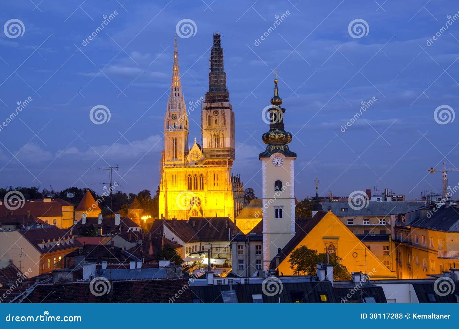 Zagreb por noche