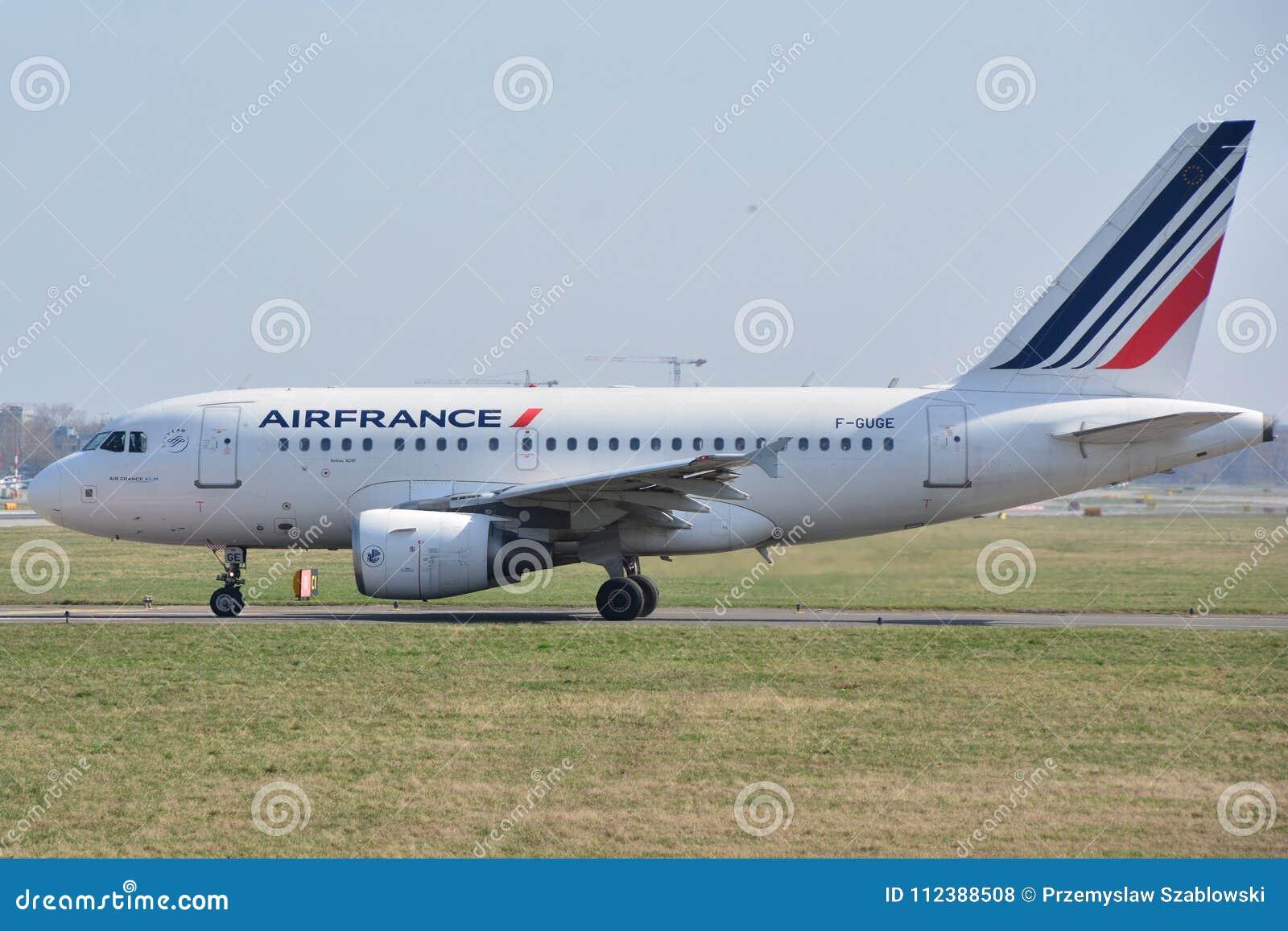 Opinión Del Avión De Air France Foto De Archivo Editorial