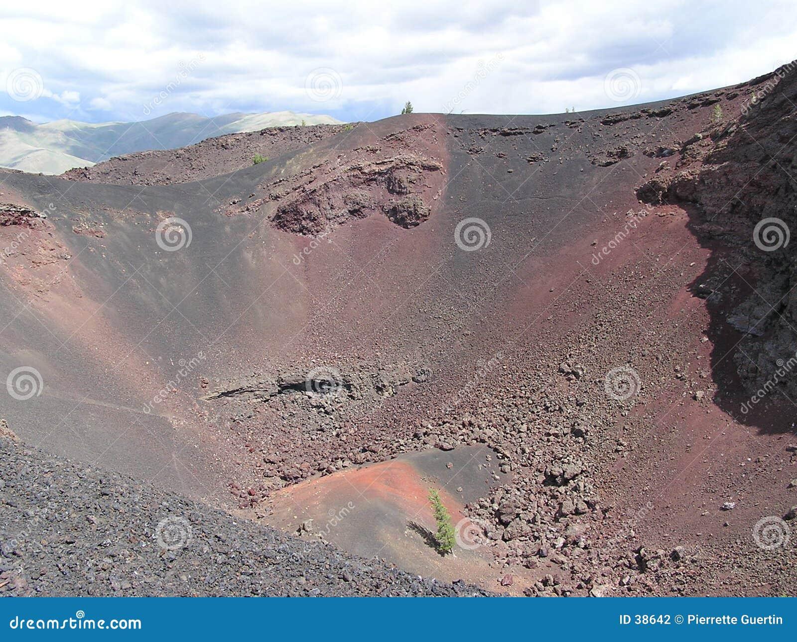 Download Opinión del cráter - Idaho foto de archivo. Imagen de montaña - 38642