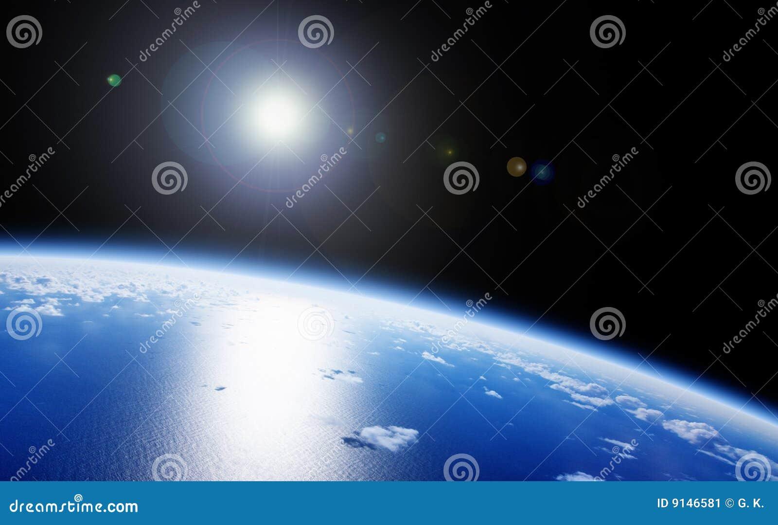 Opinión del espacio de la tierra del planeta