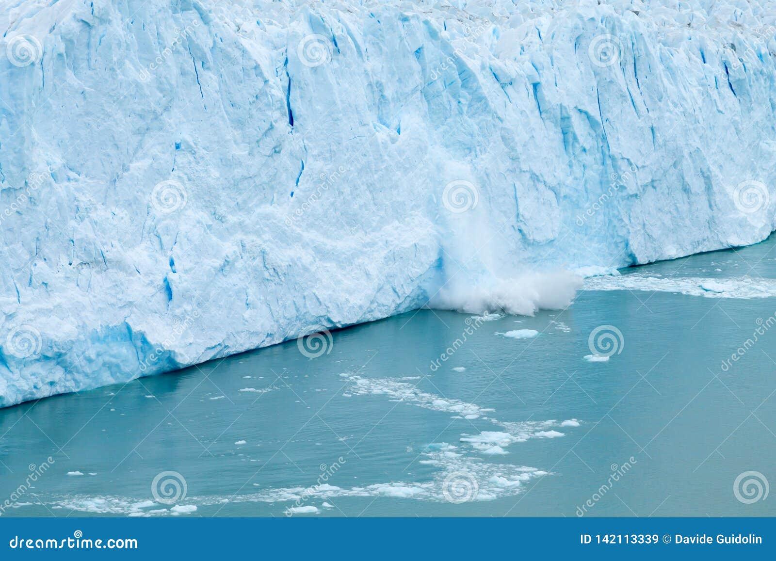 Opinión del glaciar de Perito Moreno, paisaje de la Patagonia, la Argentina