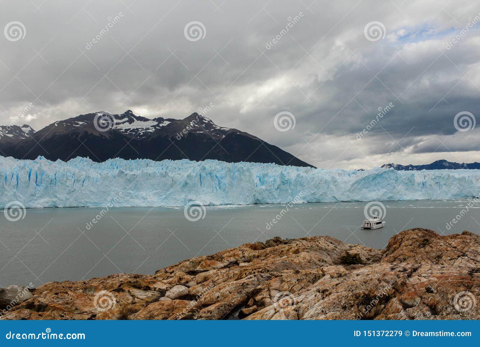Opinión del glaciar en la Patagonia la Argentina