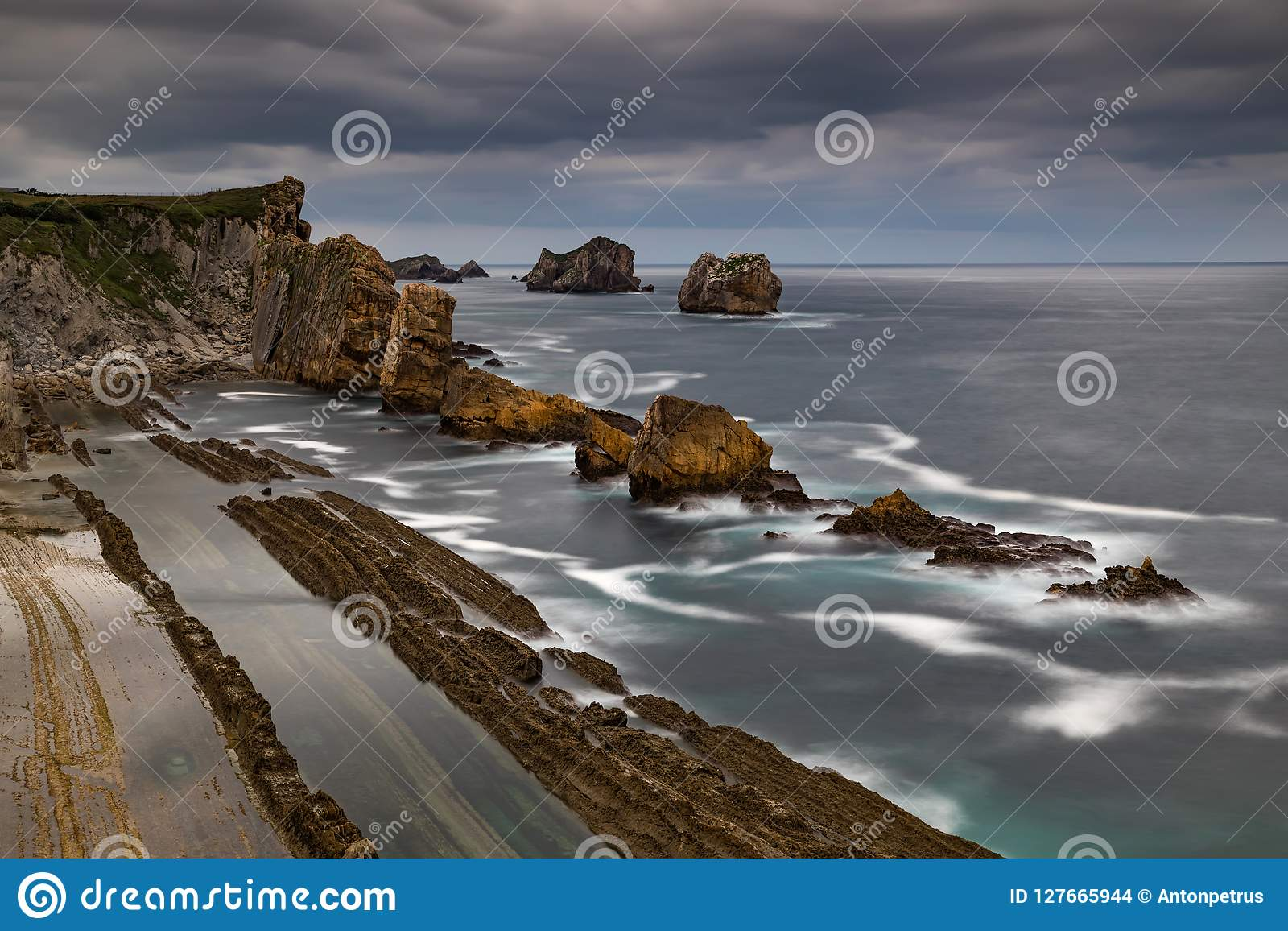 Opinión dramática Playa de la Arnia, Cantabria, España