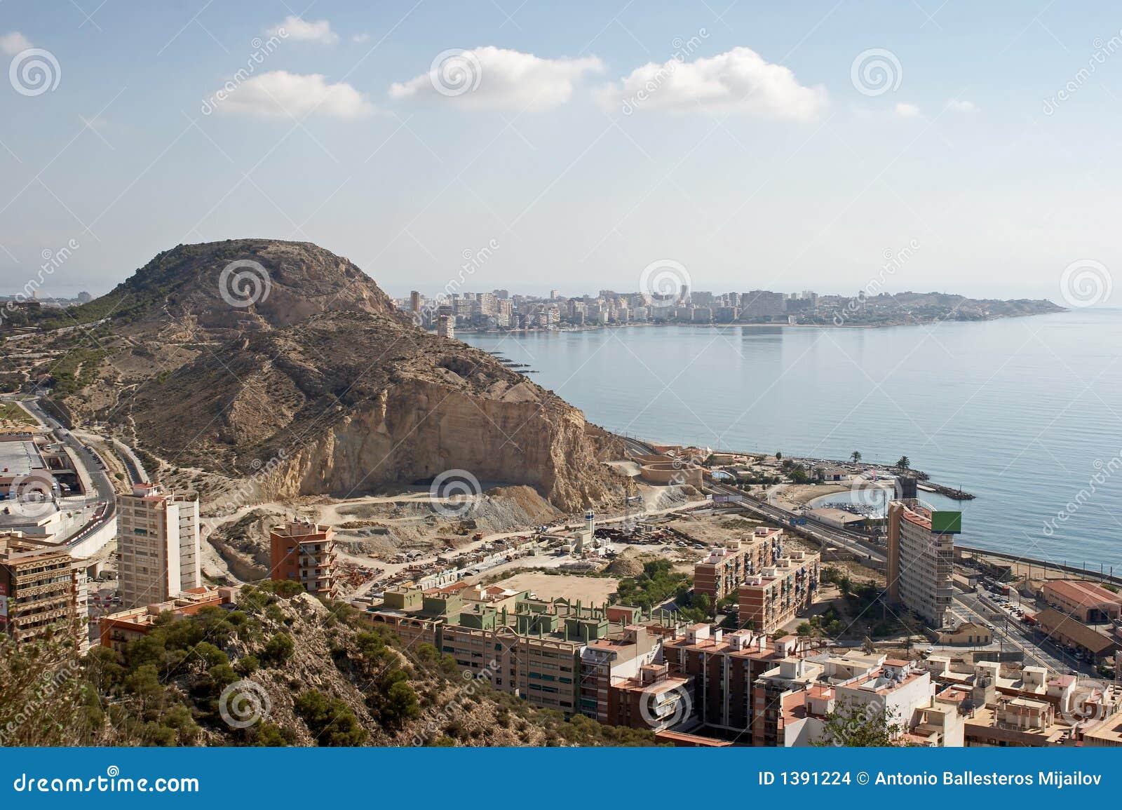 Opinión general sobre Alicante del castillo Santa Barbara