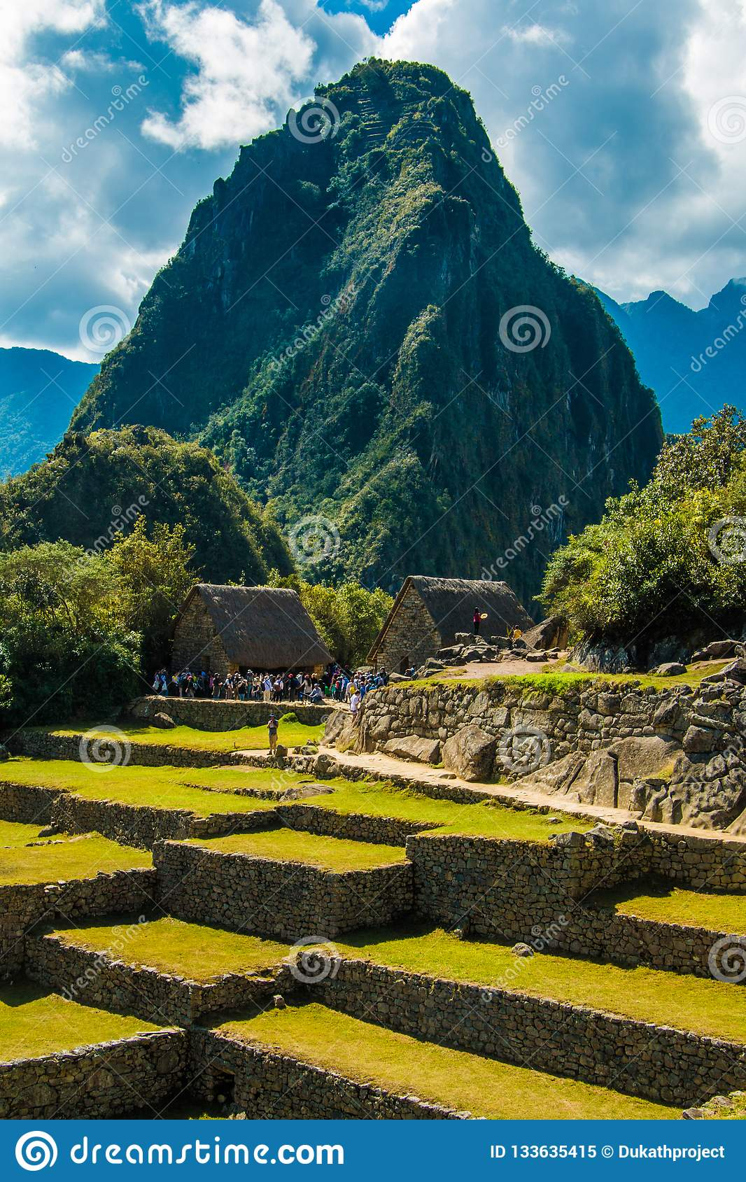 Opinión hermosa de las ruinas de Machu Picchu