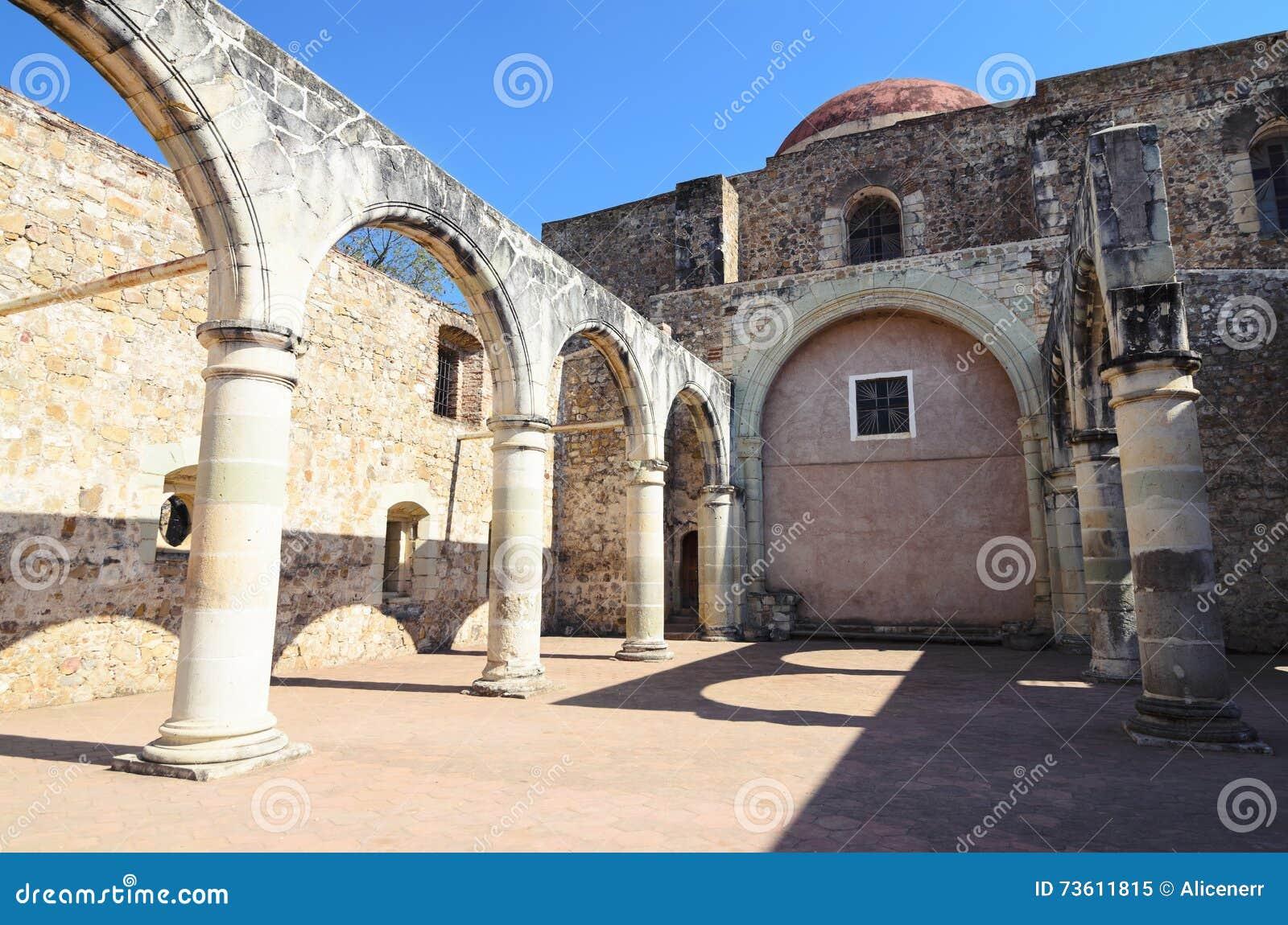 Opinión a la yarda de Convento de Cuilapam en Oaxaca