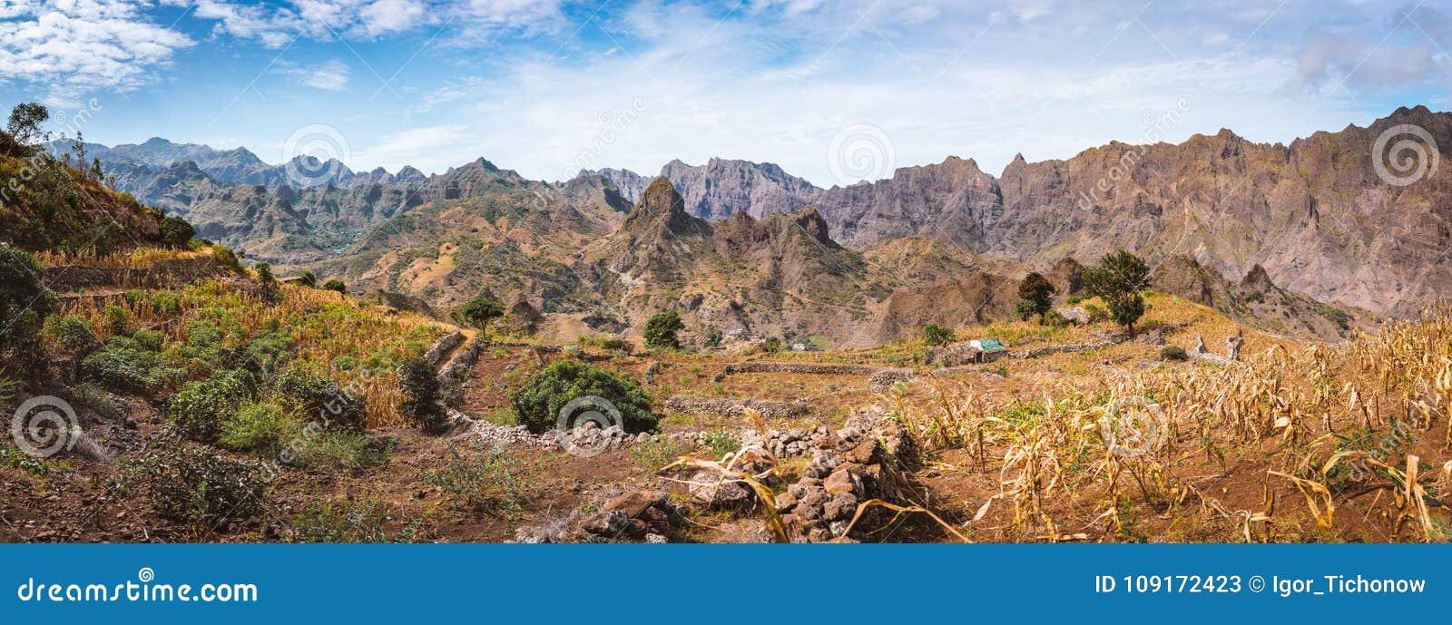 Opinión Magnífica Del Panorama De Los Campos Del Cultivo