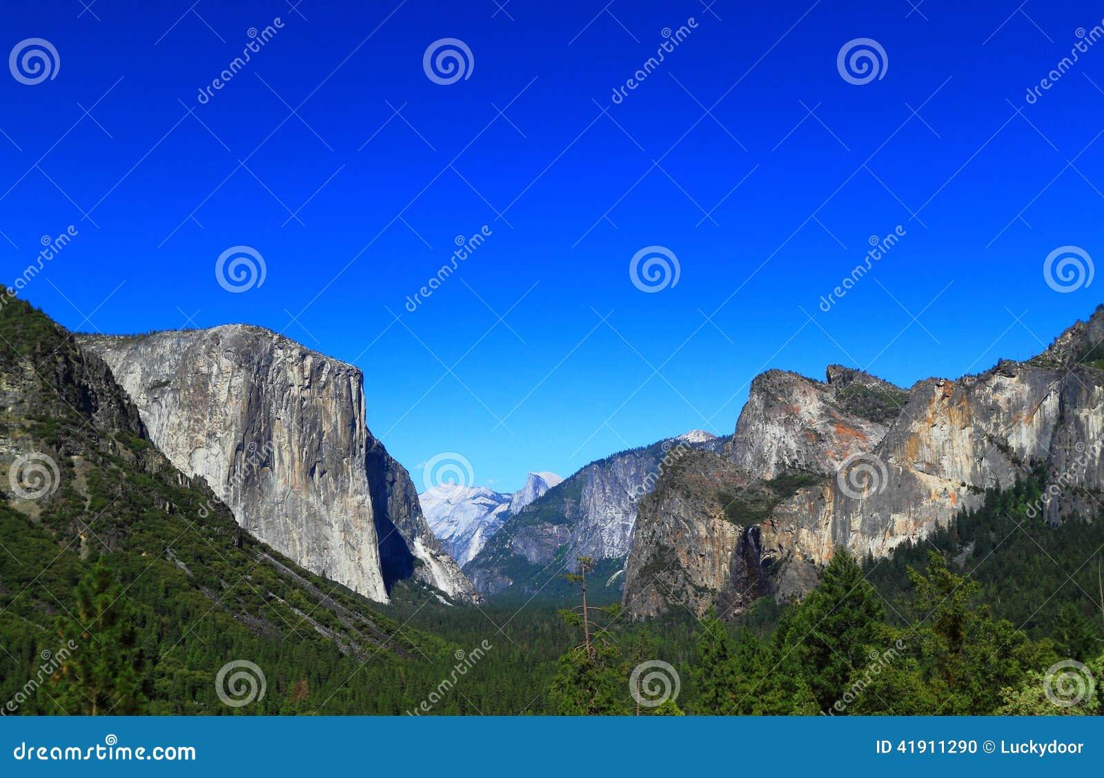 Opinión magnífica del valle de Yosemite