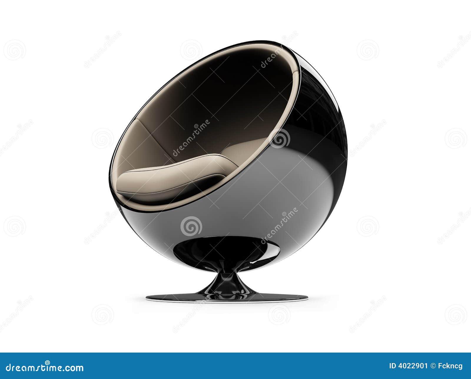 Opinión moderna aislada de los muebles