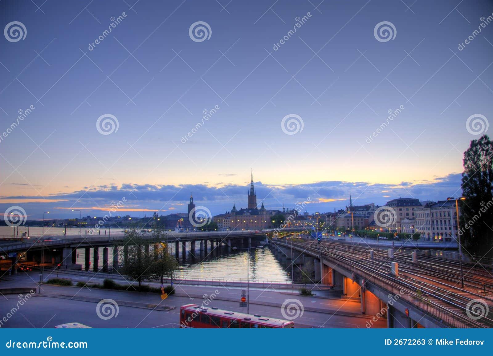 Opinión panorámica de Estocolmo