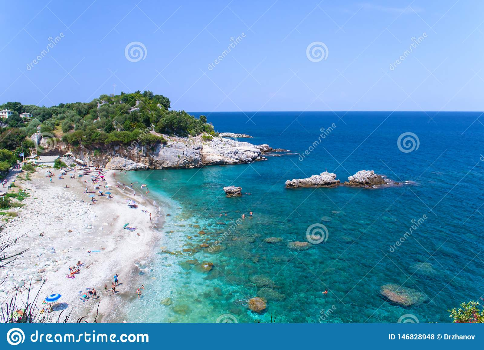 Opinión que sorprende sobre la playa de Damouchari, Grecia