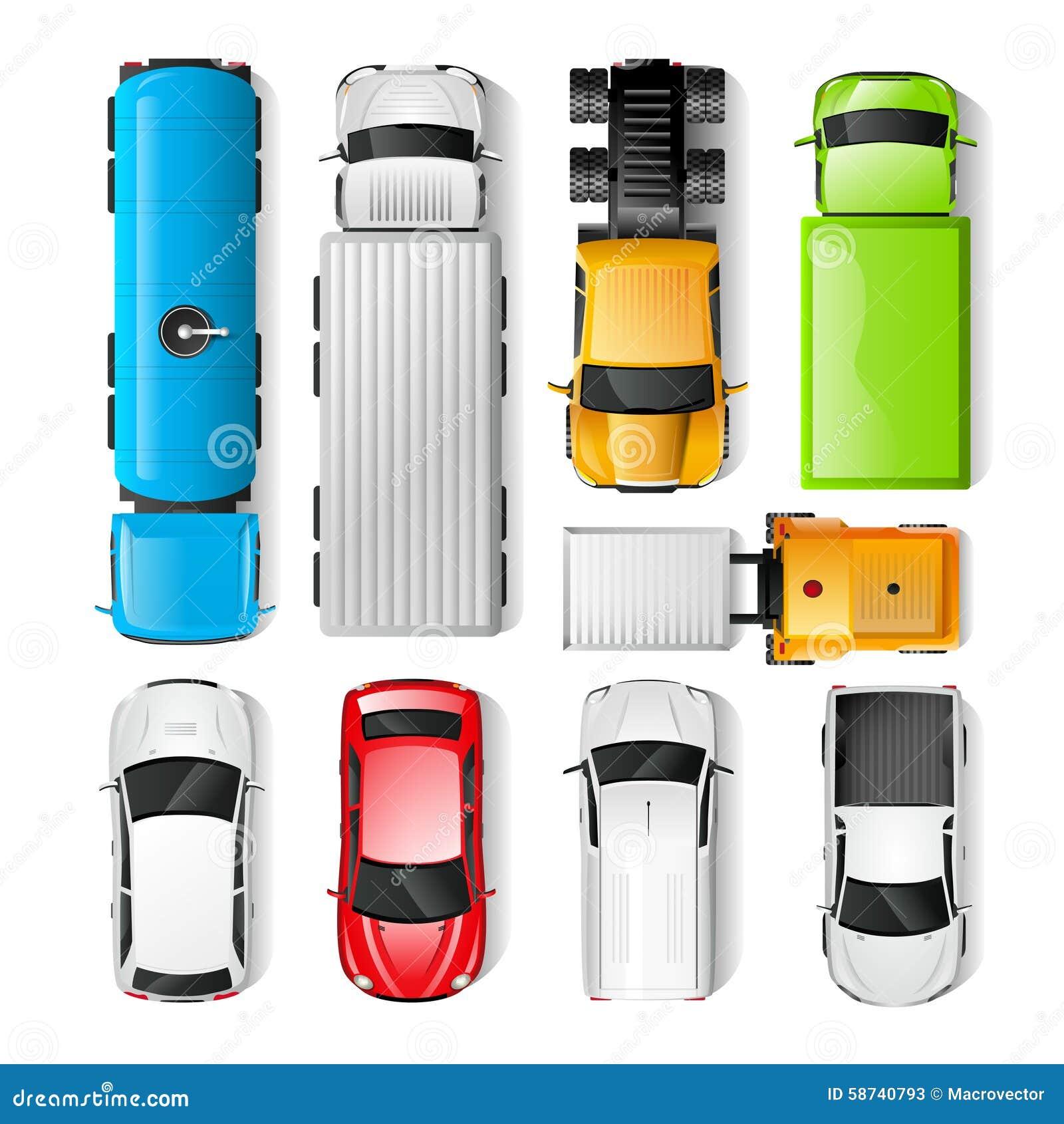 Opinión superior de los coches